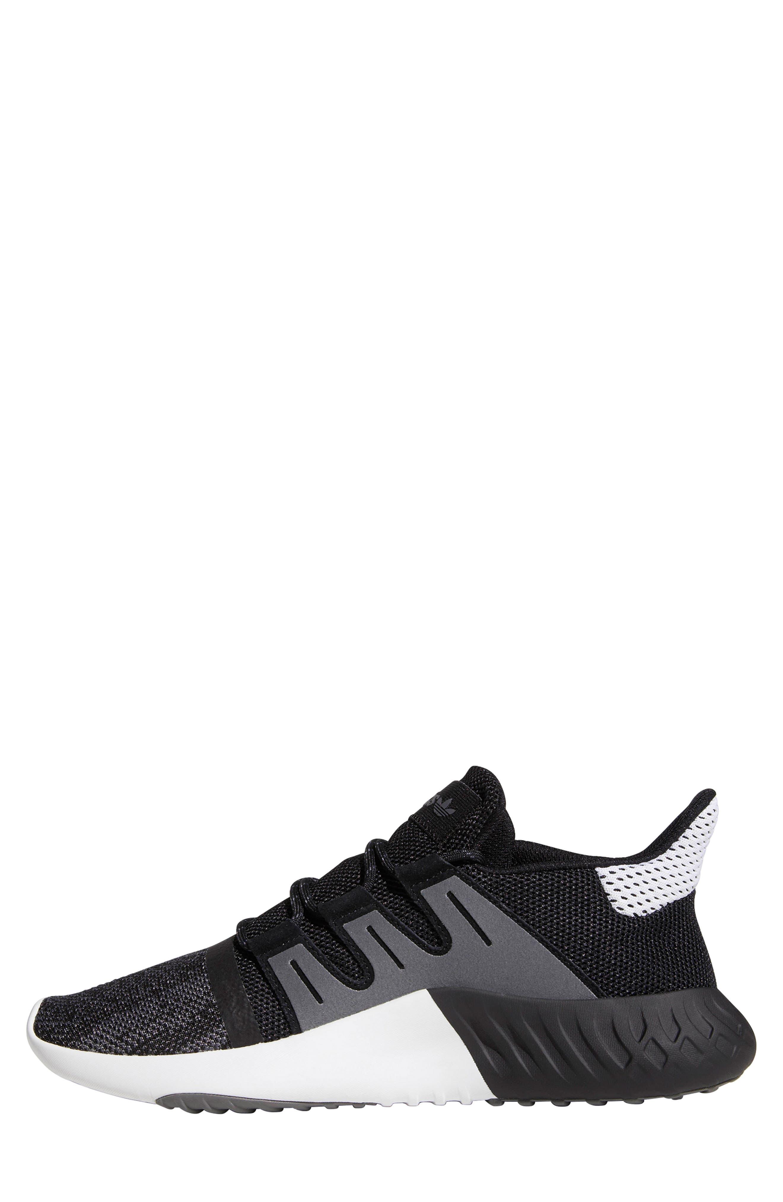 Tubular Dusk Primeknit Sneaker,                             Alternate thumbnail 8, color,                             WHITE/ BLACK/ GREY