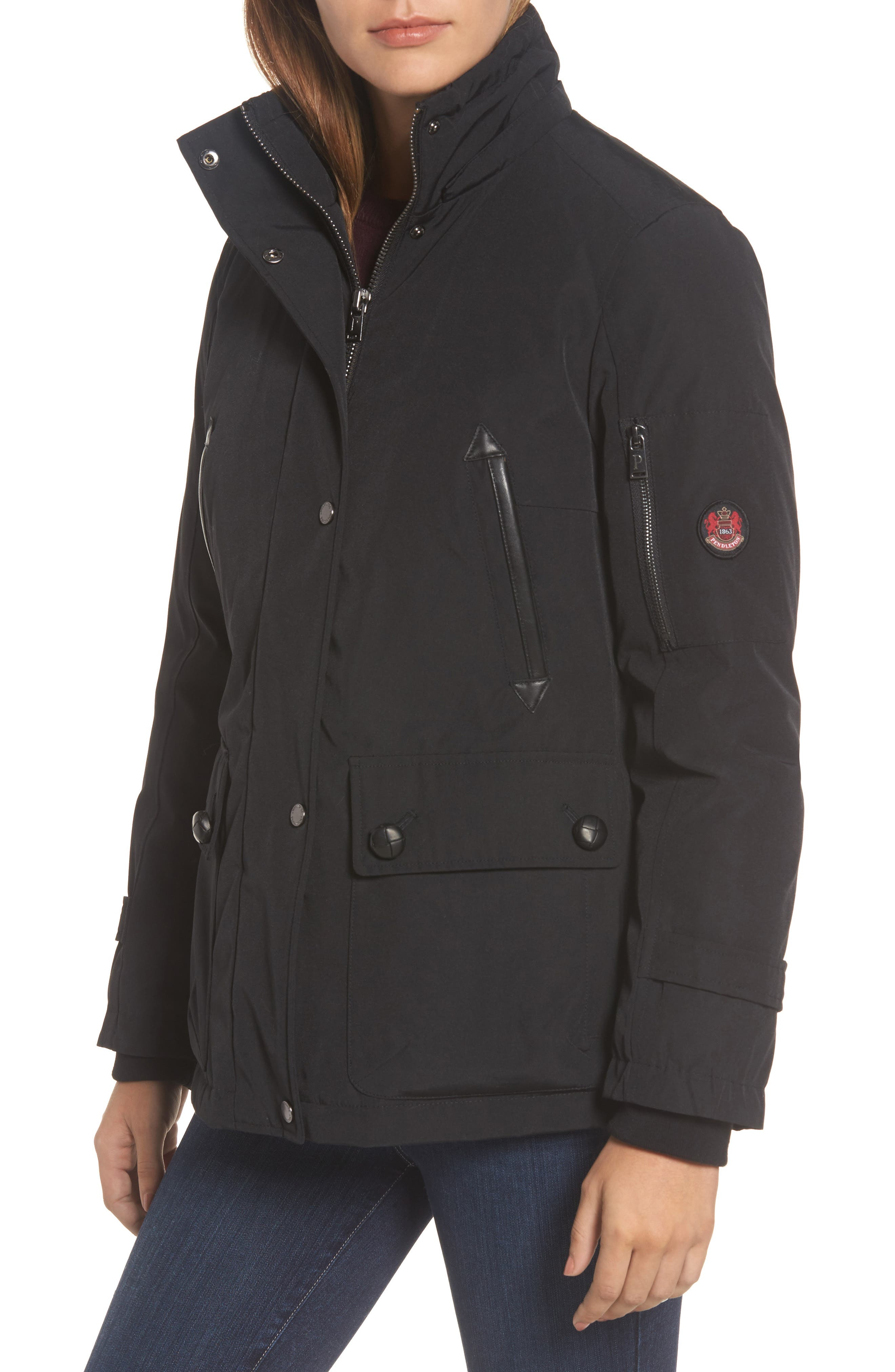 Bachelor Water Repellent Hooded Down Parka with Genuine Coyote Fur Trim,                             Alternate thumbnail 13, color,
