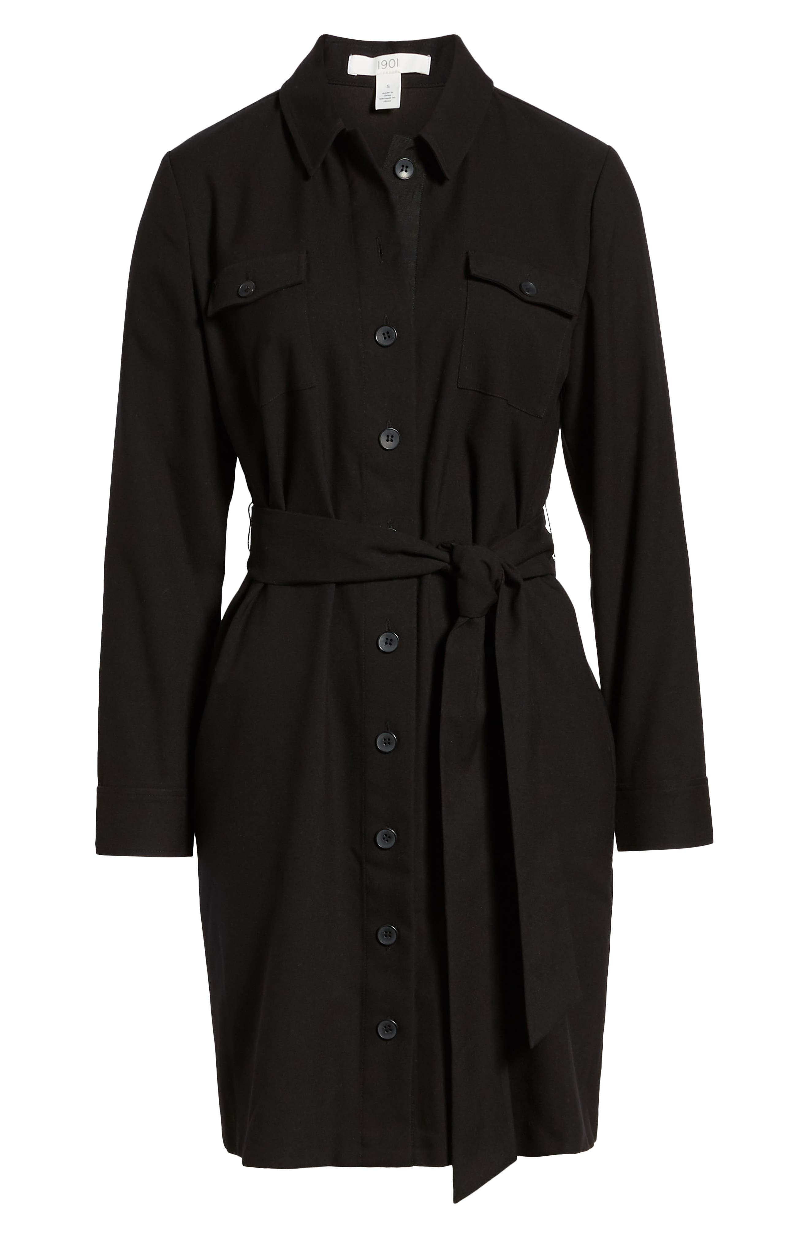 1901,                             Belted Shirtdress,                             Alternate thumbnail 7, color,                             001