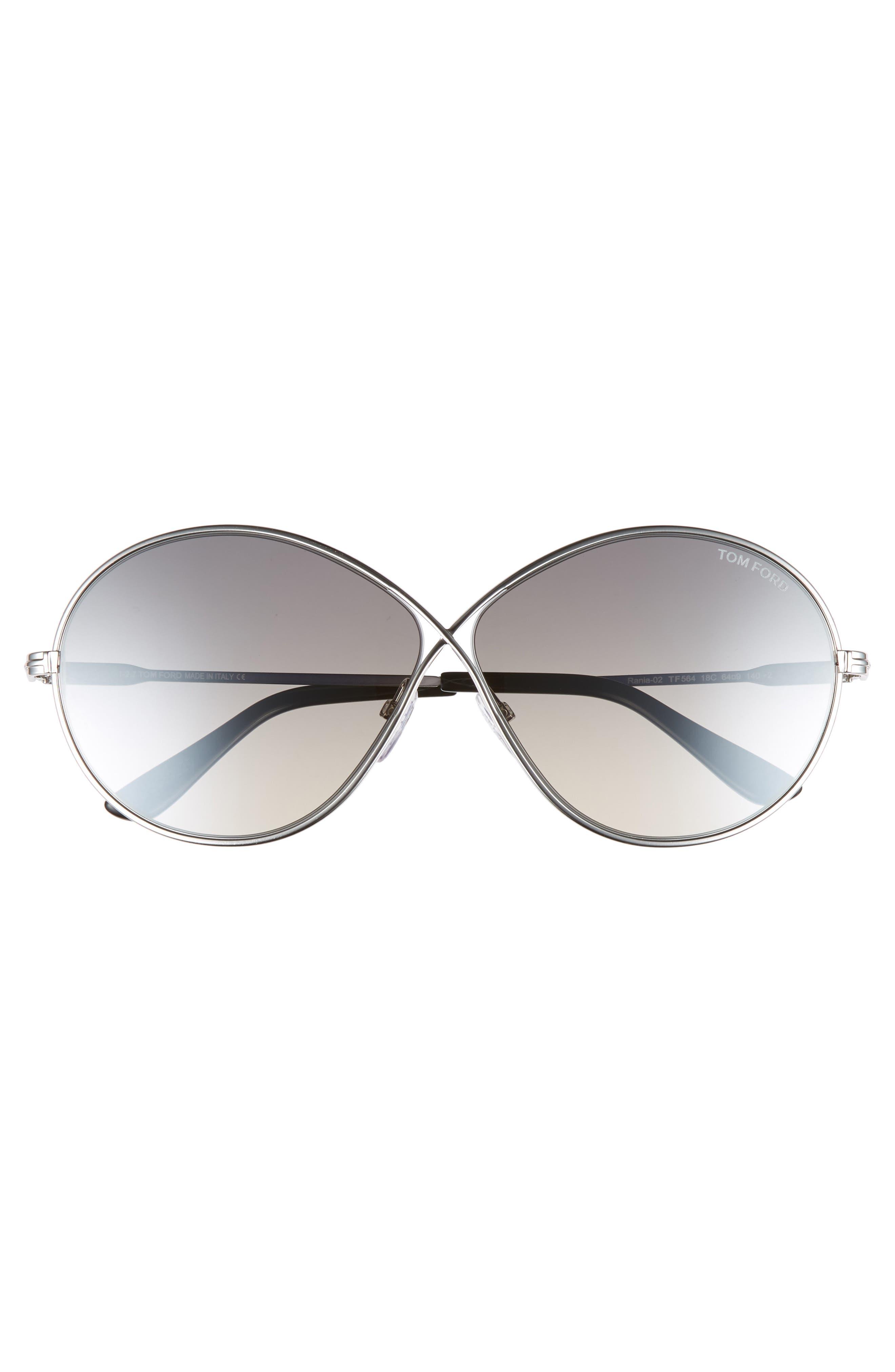 Rania 64mm Oversize Round Sunglasses,                             Alternate thumbnail 3, color,                             040