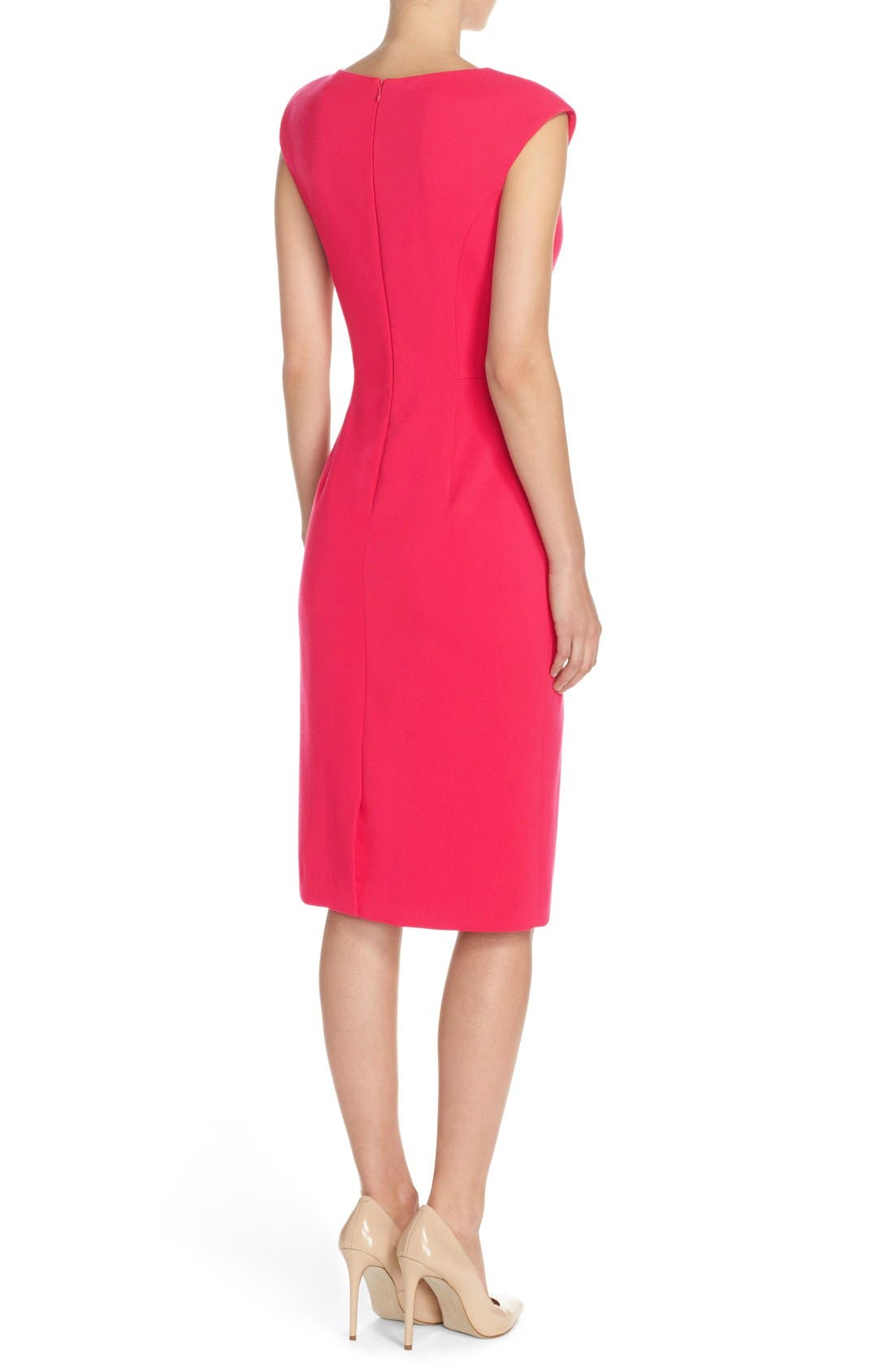 Crepe Sheath Dress,                             Alternate thumbnail 9, color,