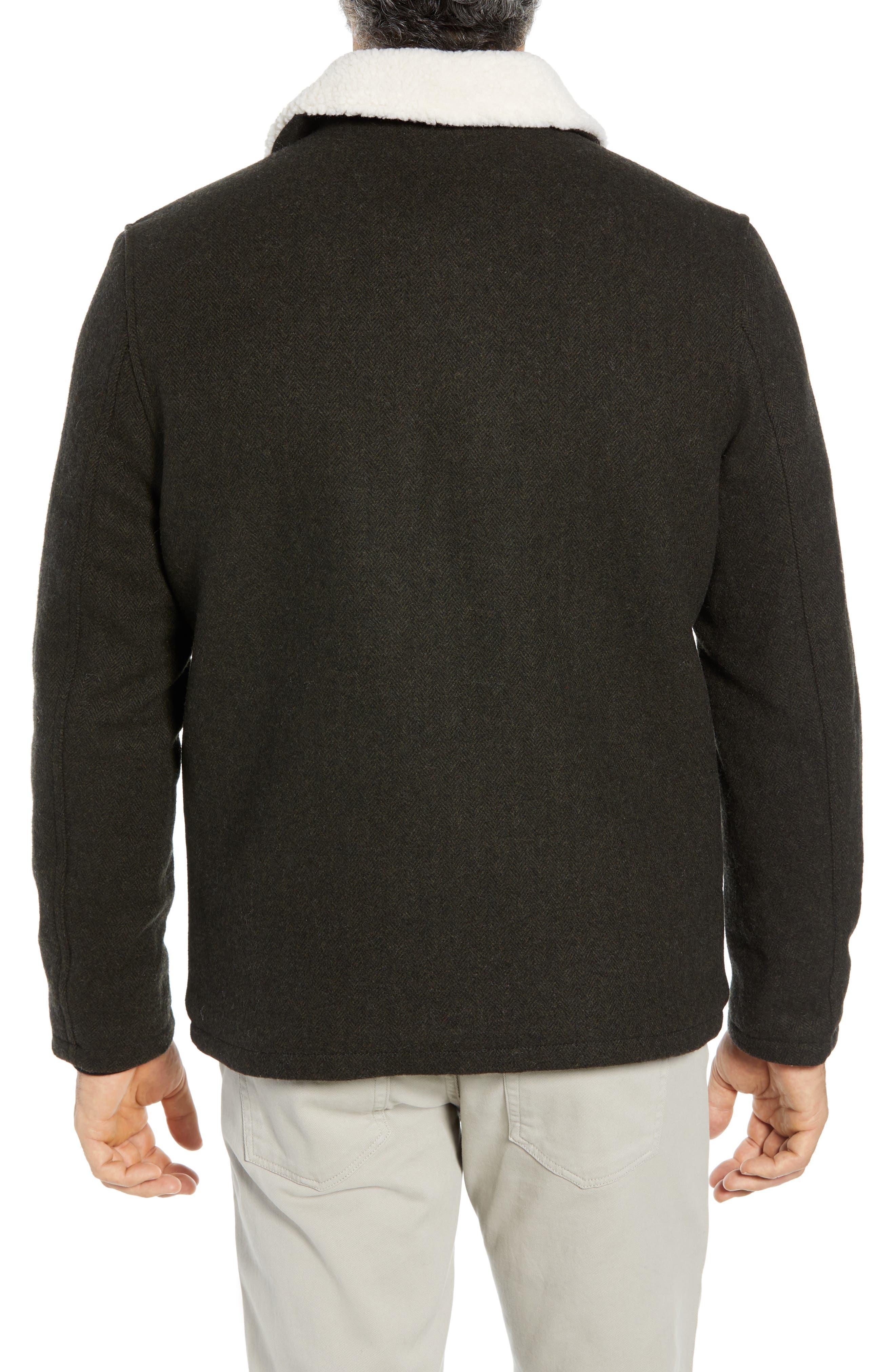 COLE HAAN SIGNATURE,                             Faux Shearling Trim Field Jacket,                             Alternate thumbnail 2, color,                             317