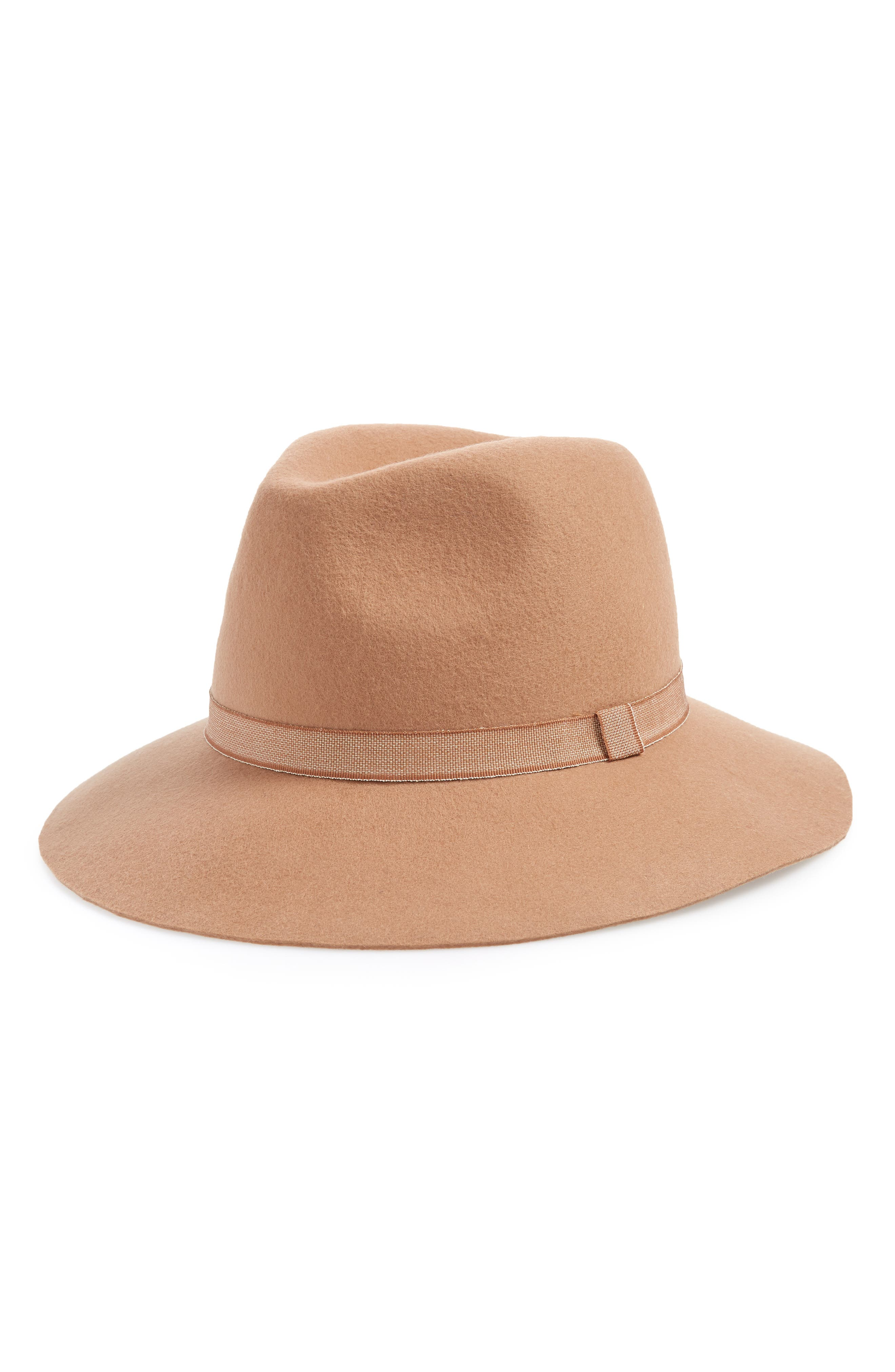 Felt Panama Hat,                             Main thumbnail 1, color,                             CAMEL