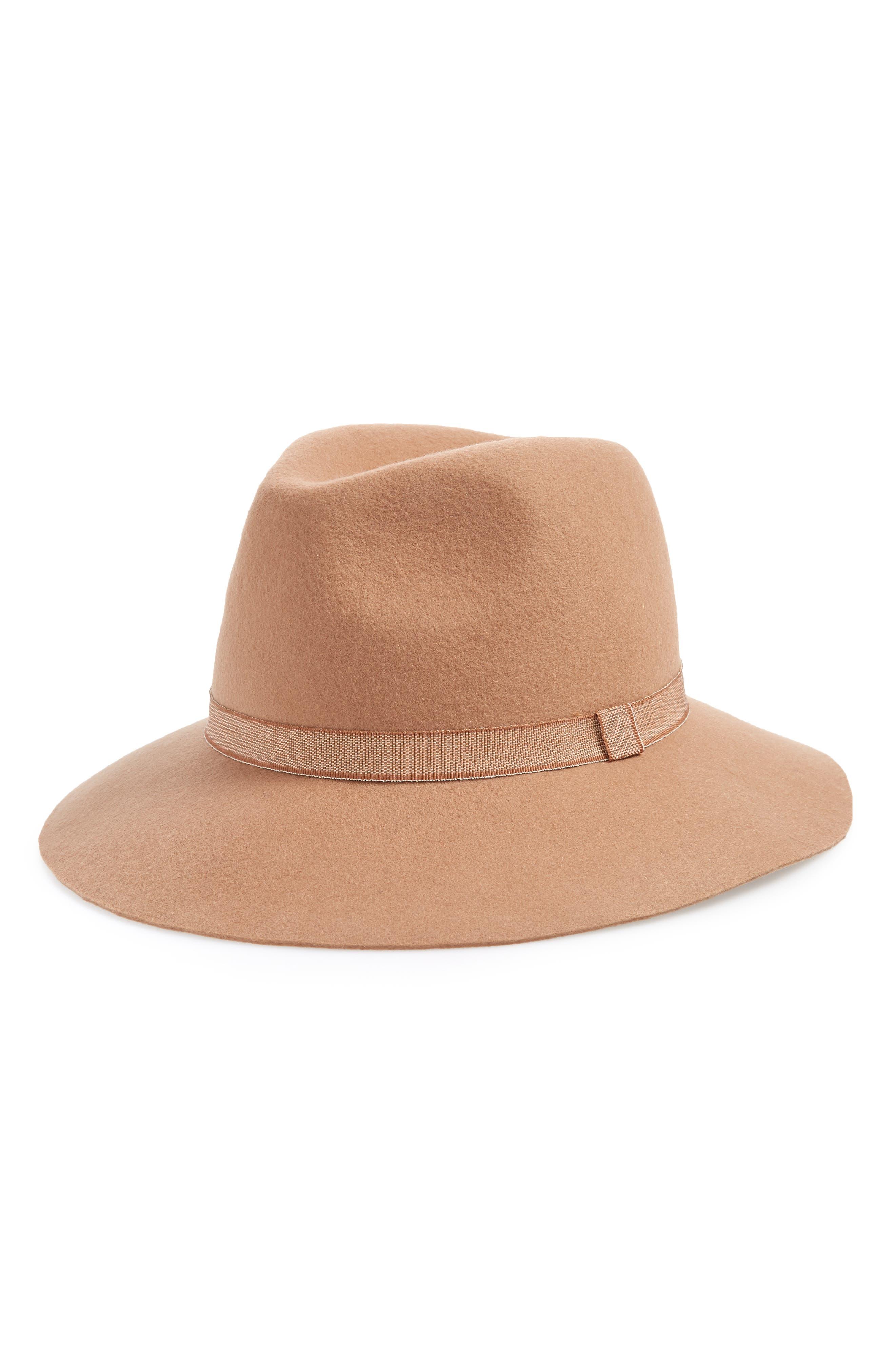 Felt Panama Hat,                         Main,                         color, CAMEL