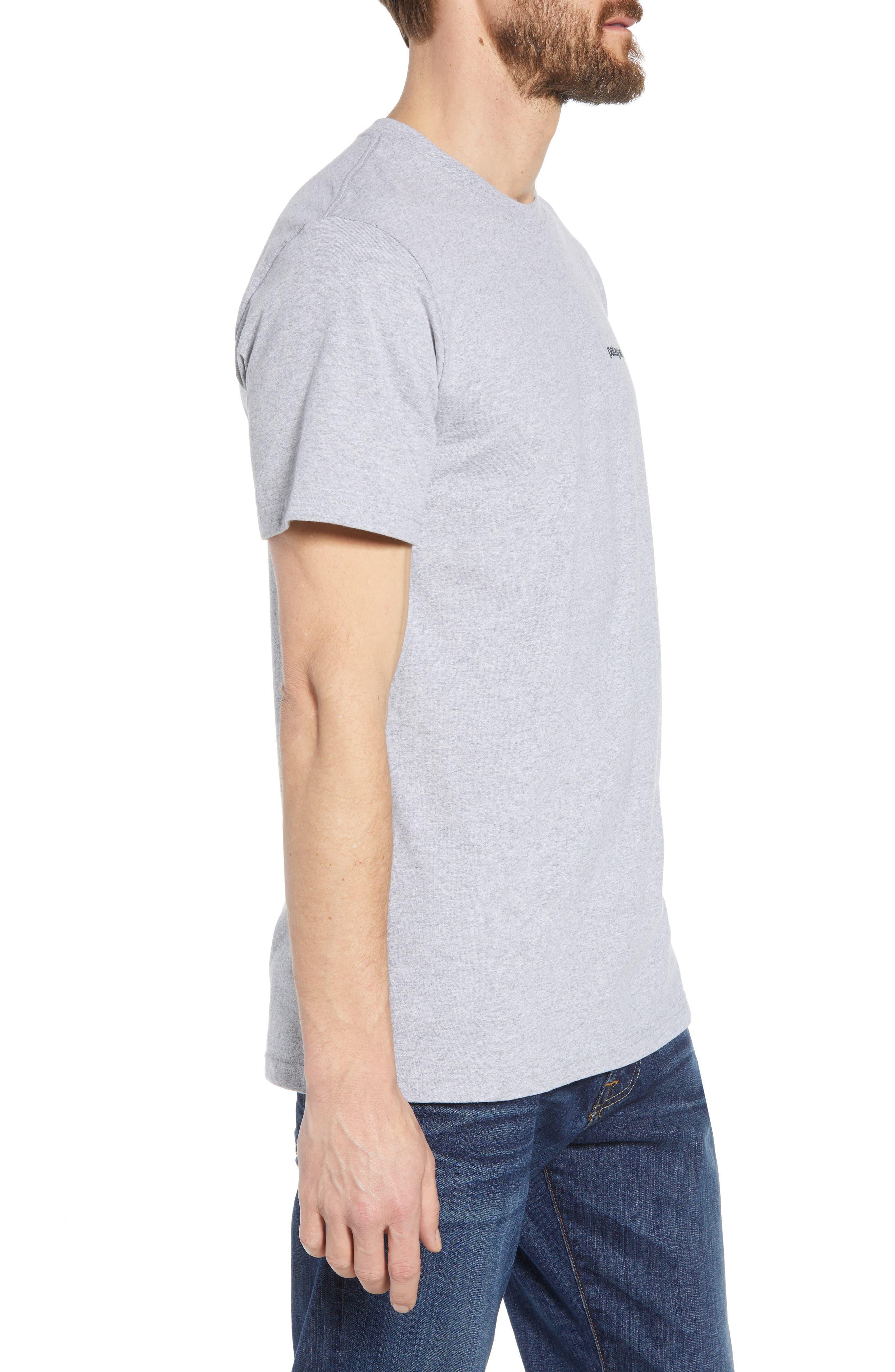 Fitz Roy Trout Crewneck T-Shirt,                             Alternate thumbnail 3, color,                             DRIFTER GREY