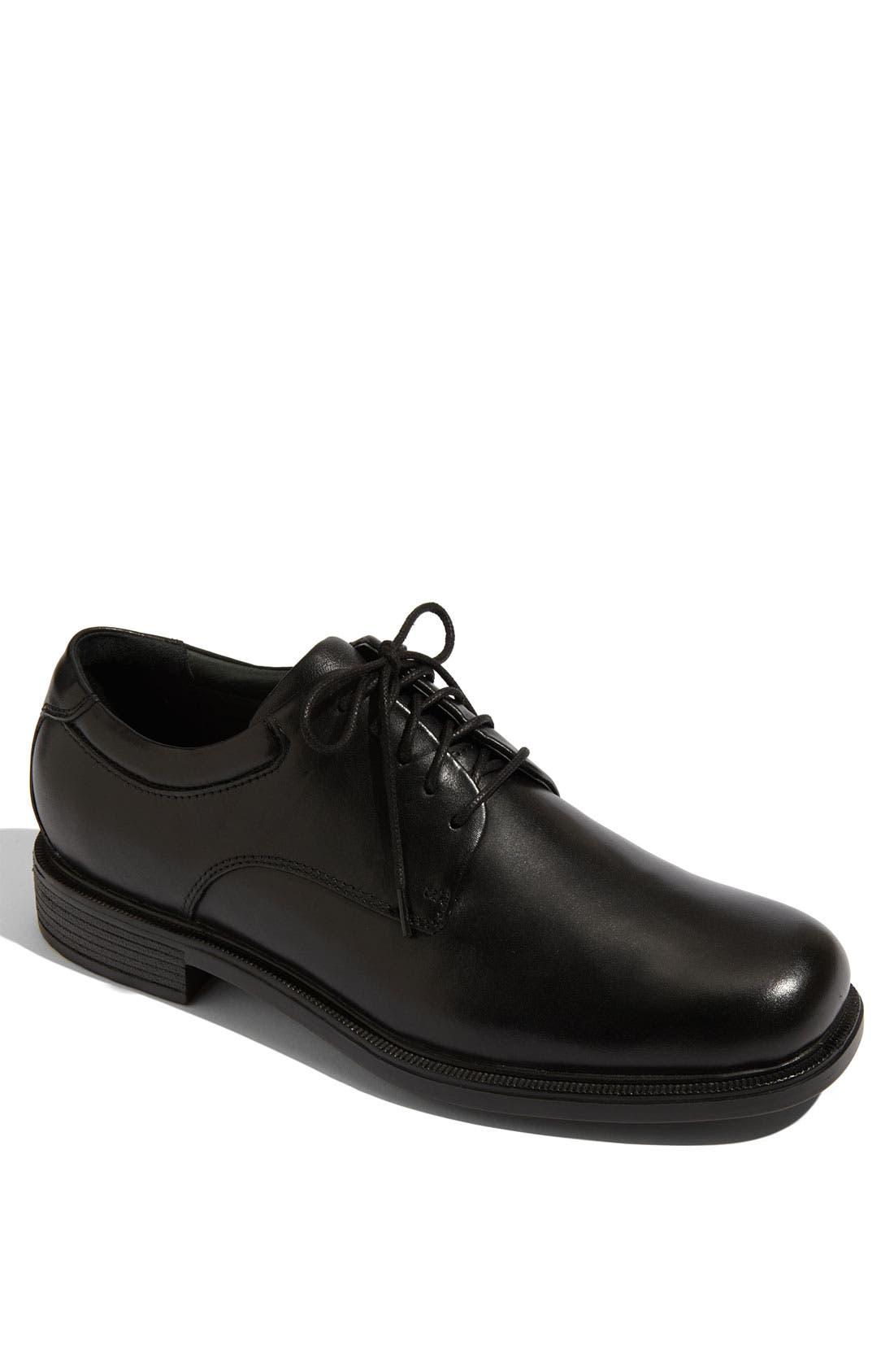 'Margin' Oxford,                         Main,                         color, BLACK LEATHER