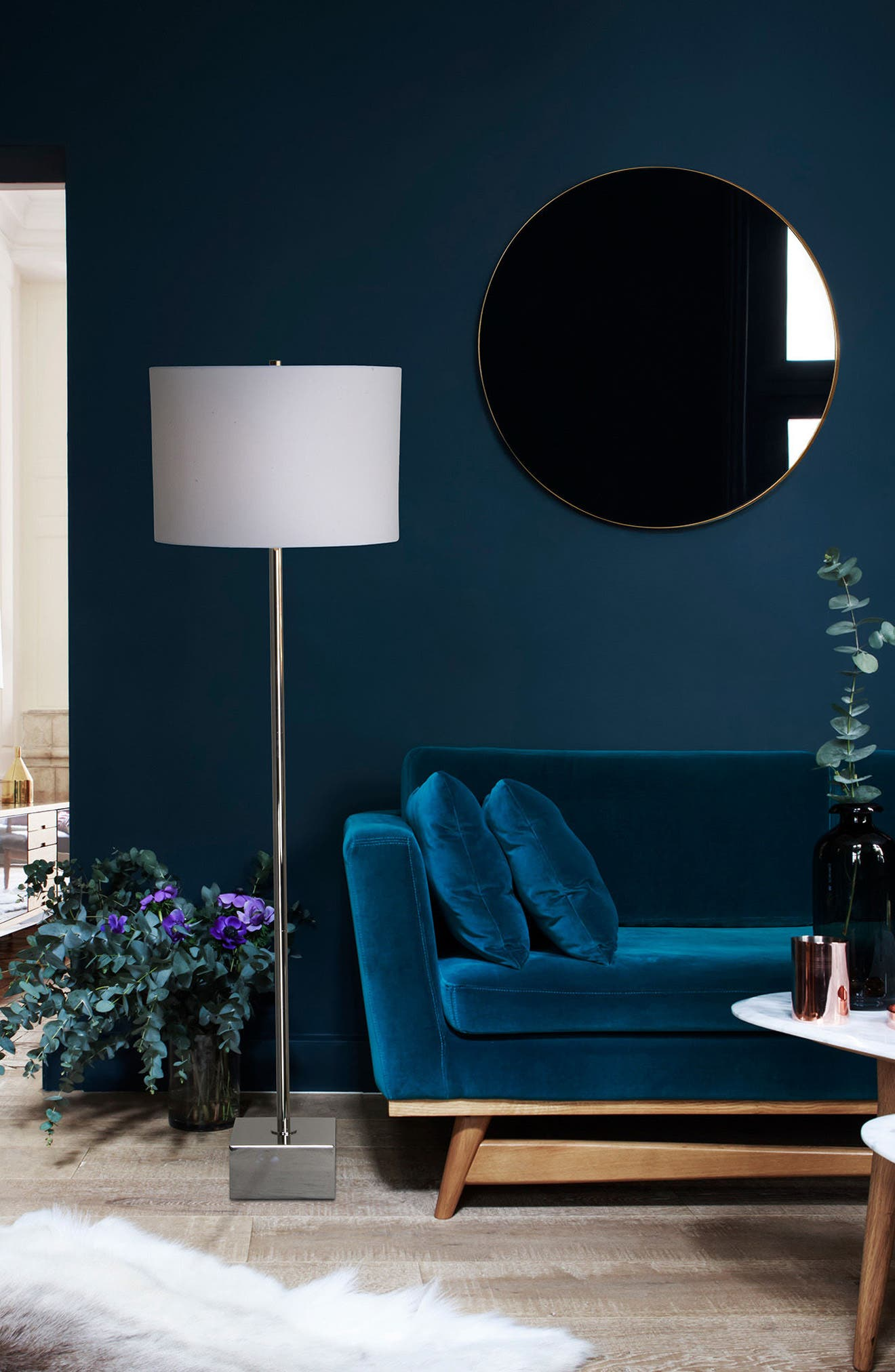 Thalia Chrome Floor Lamp,                             Alternate thumbnail 4, color,                             040