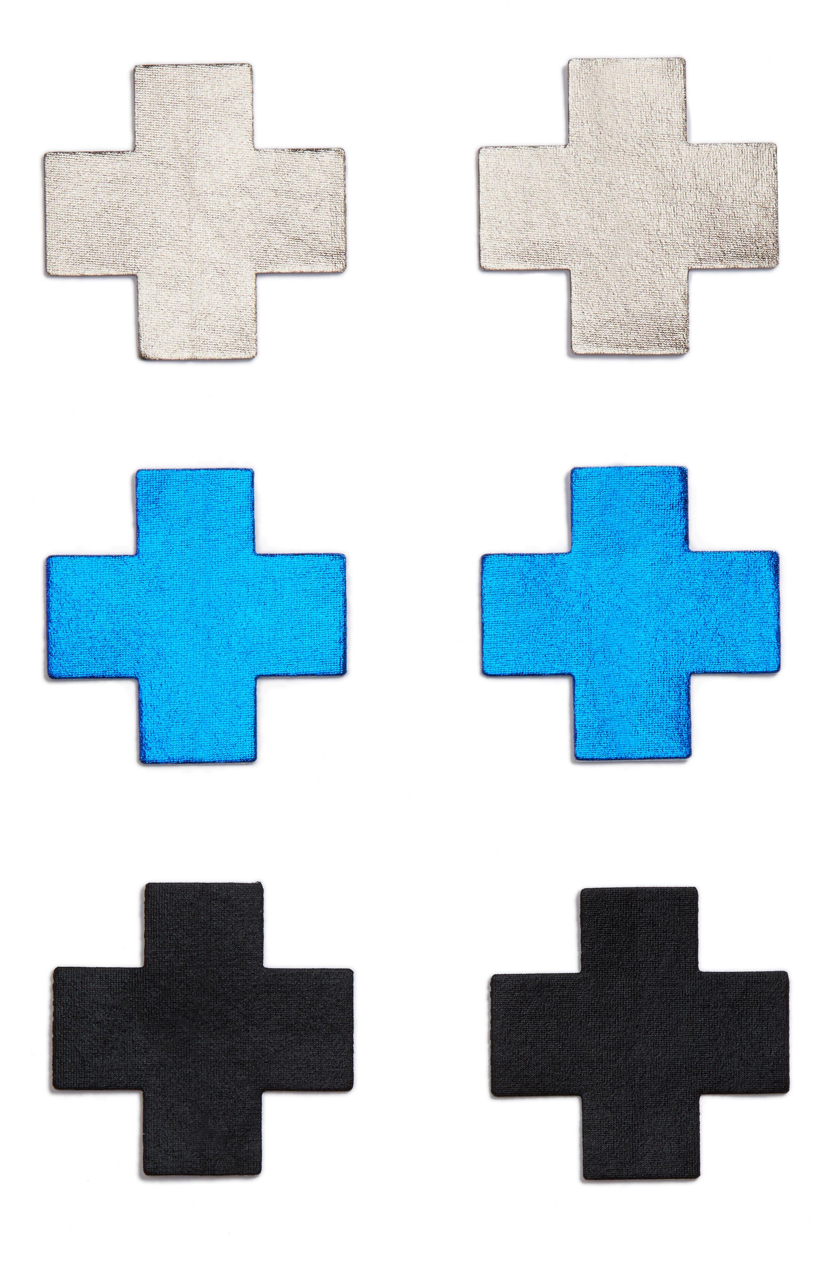 3-Pack Cross Nipple Covers,                             Main thumbnail 1, color,                             400