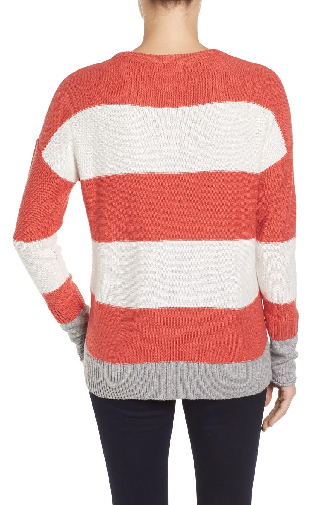 Contrast Cuff Crewneck Sweater,                             Alternate thumbnail 20, color,