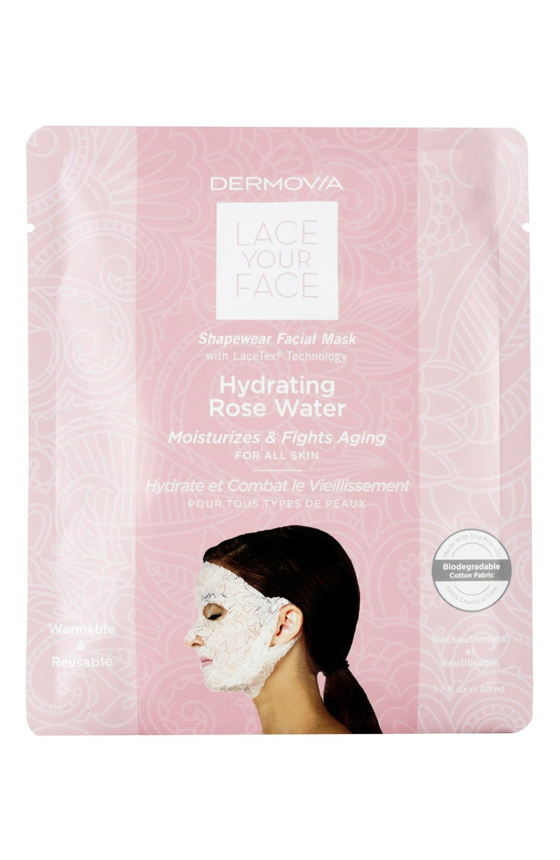 Lace Your Face Hydrating Rose Water Compression Facial Mask,                             Main thumbnail 1, color,                             NONE