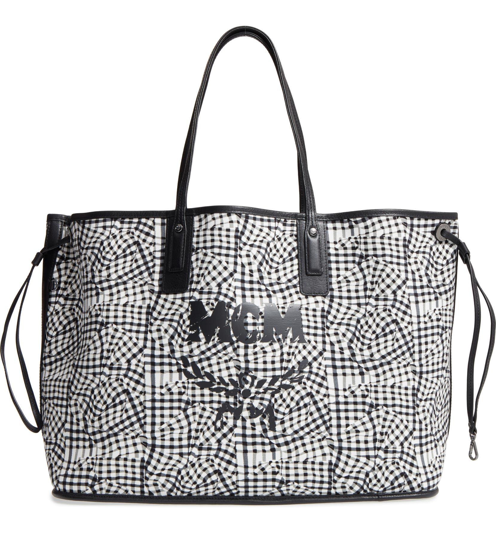 Mcm Large Liz Reversible Shopper Nordstrom Tote Bag Black Mc