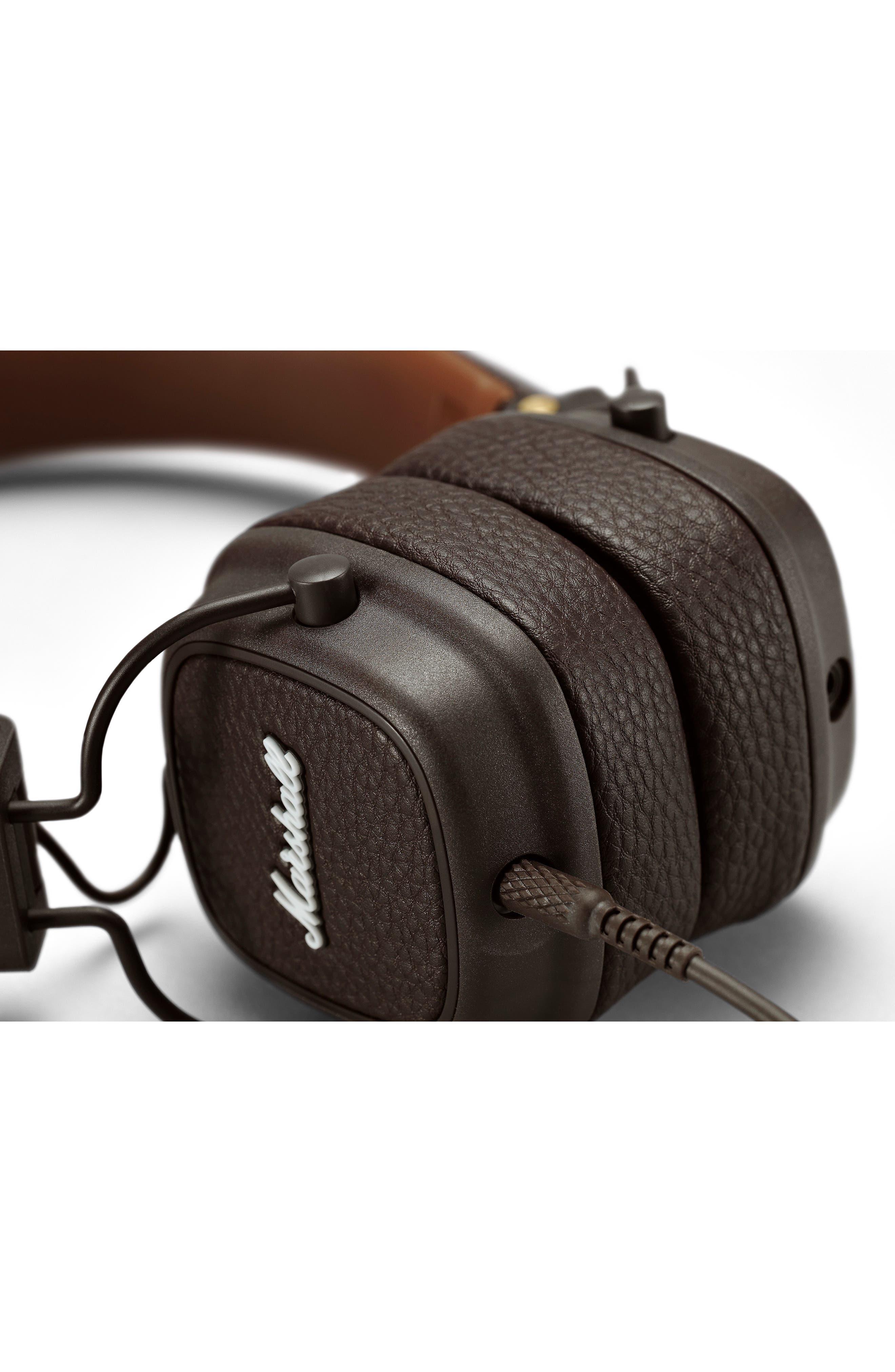 Major III Wired Headphones,                             Alternate thumbnail 3, color,                             BROWN