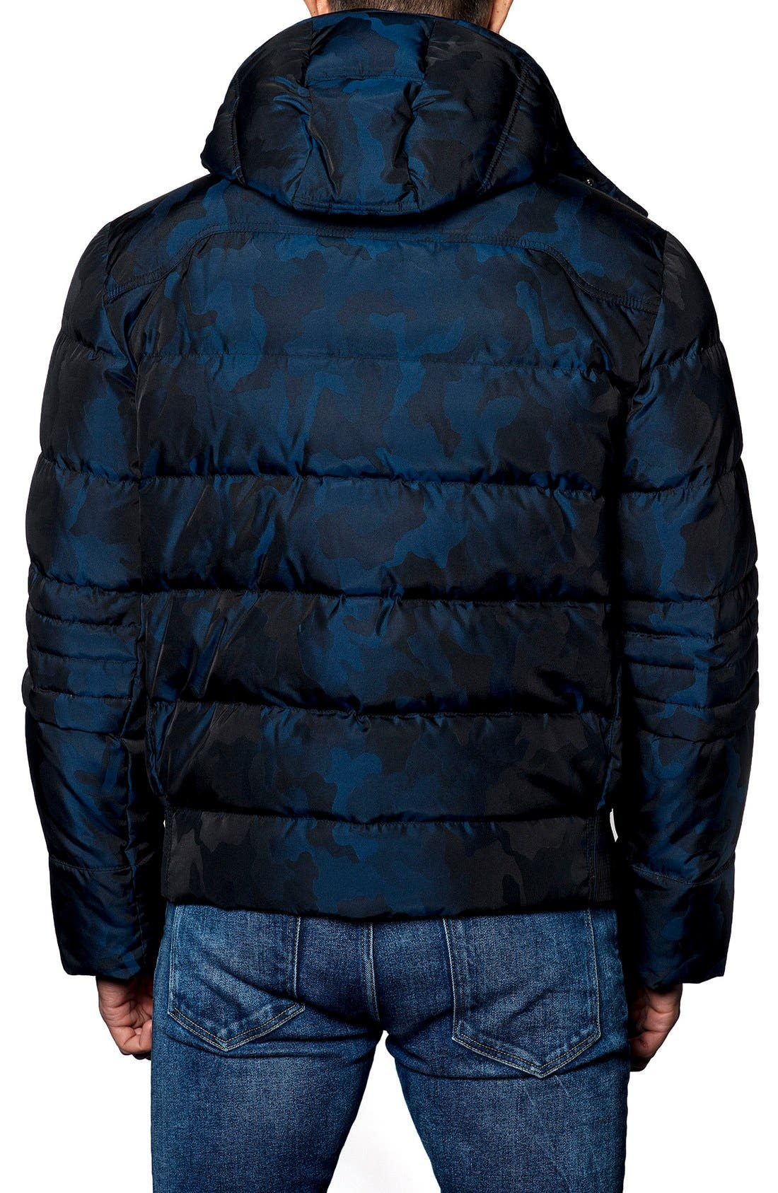 Alaska Camo Down Puffer Coat, Main, color, 410