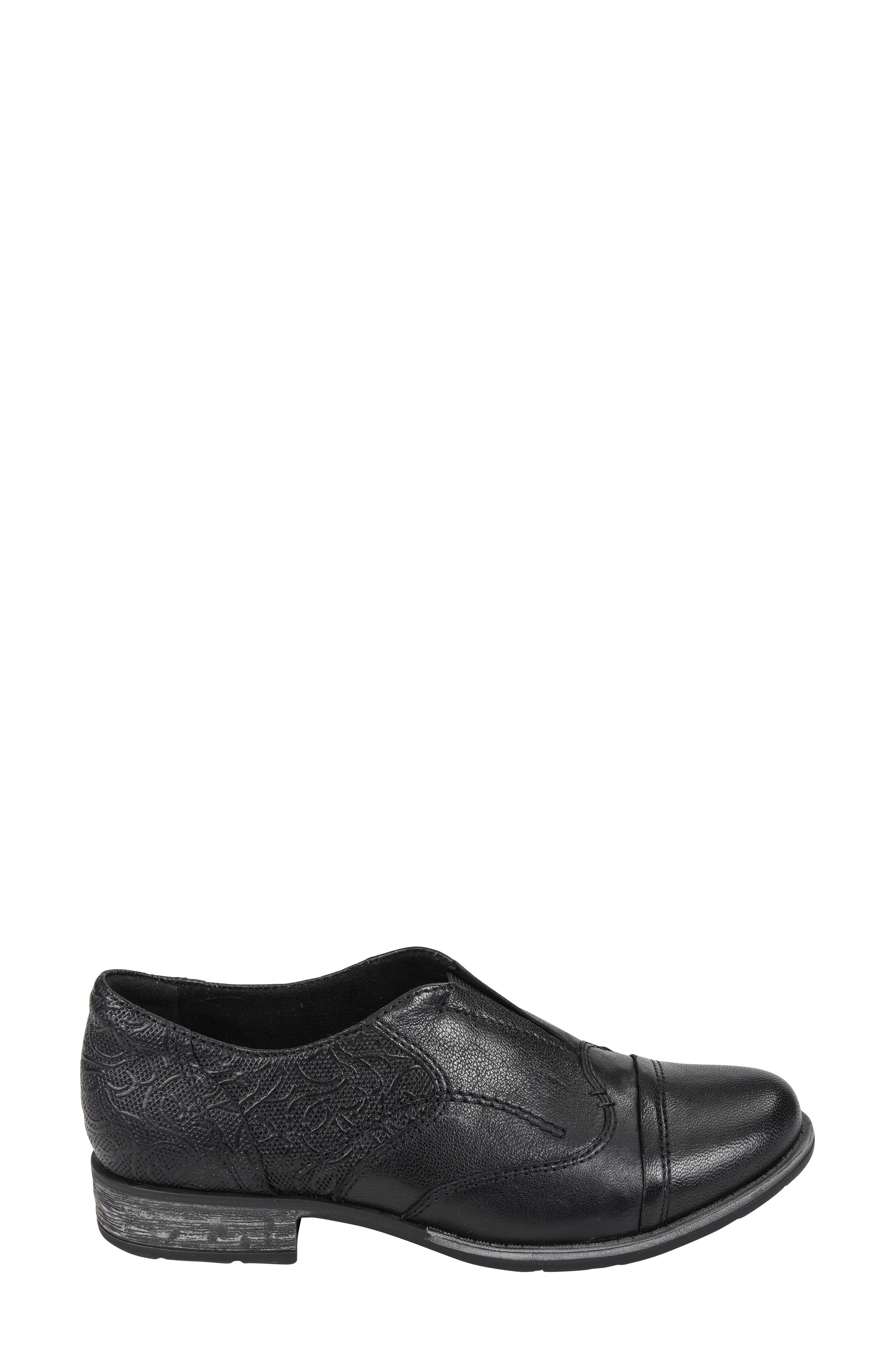 EARTH<SUP>®</SUP>,                             Blythe Loafer,                             Alternate thumbnail 3, color,                             BLACK LEATHER