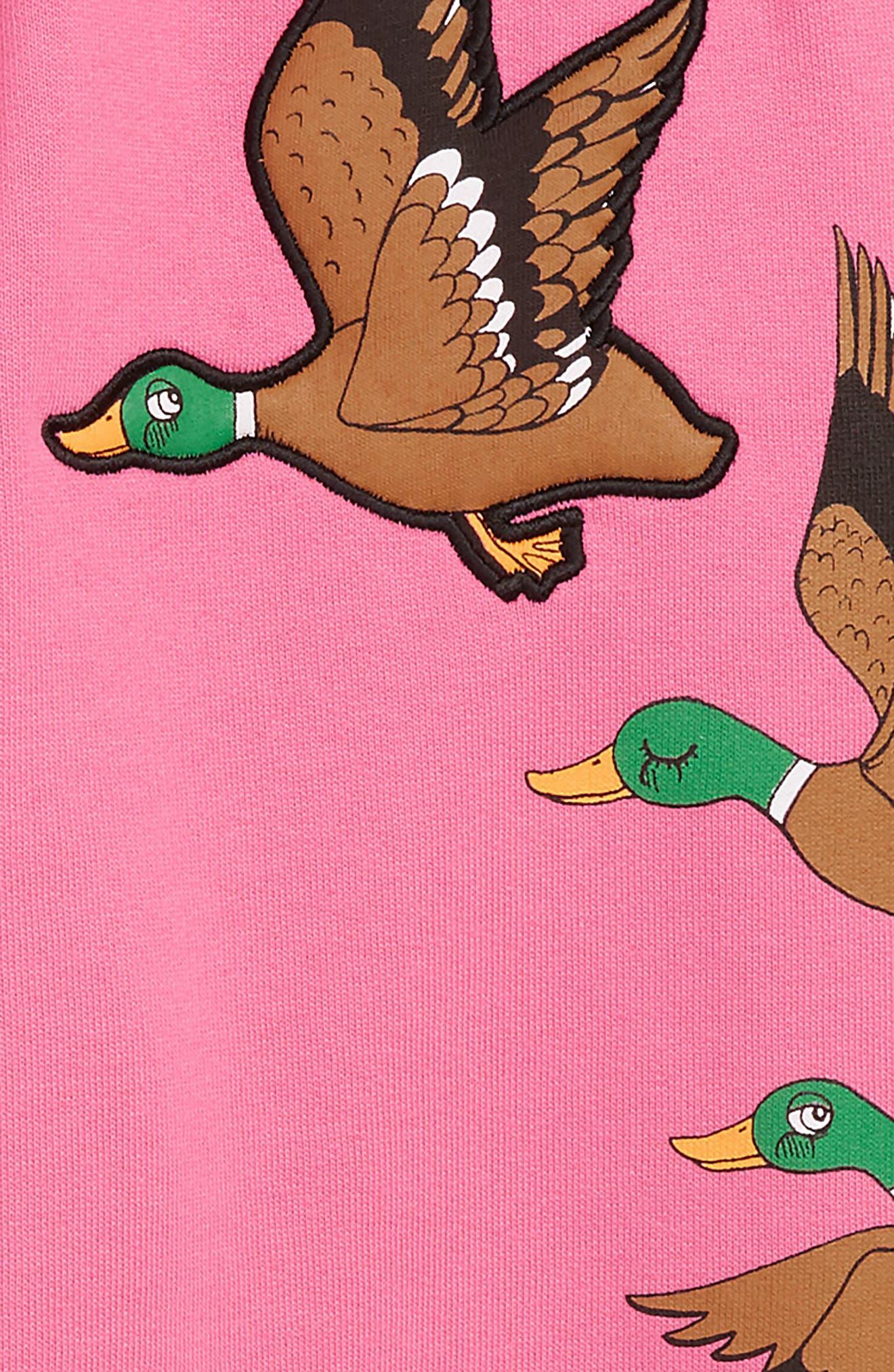 Ducks Organic Cotton Sweatpants,                             Alternate thumbnail 2, color,                             CERISE