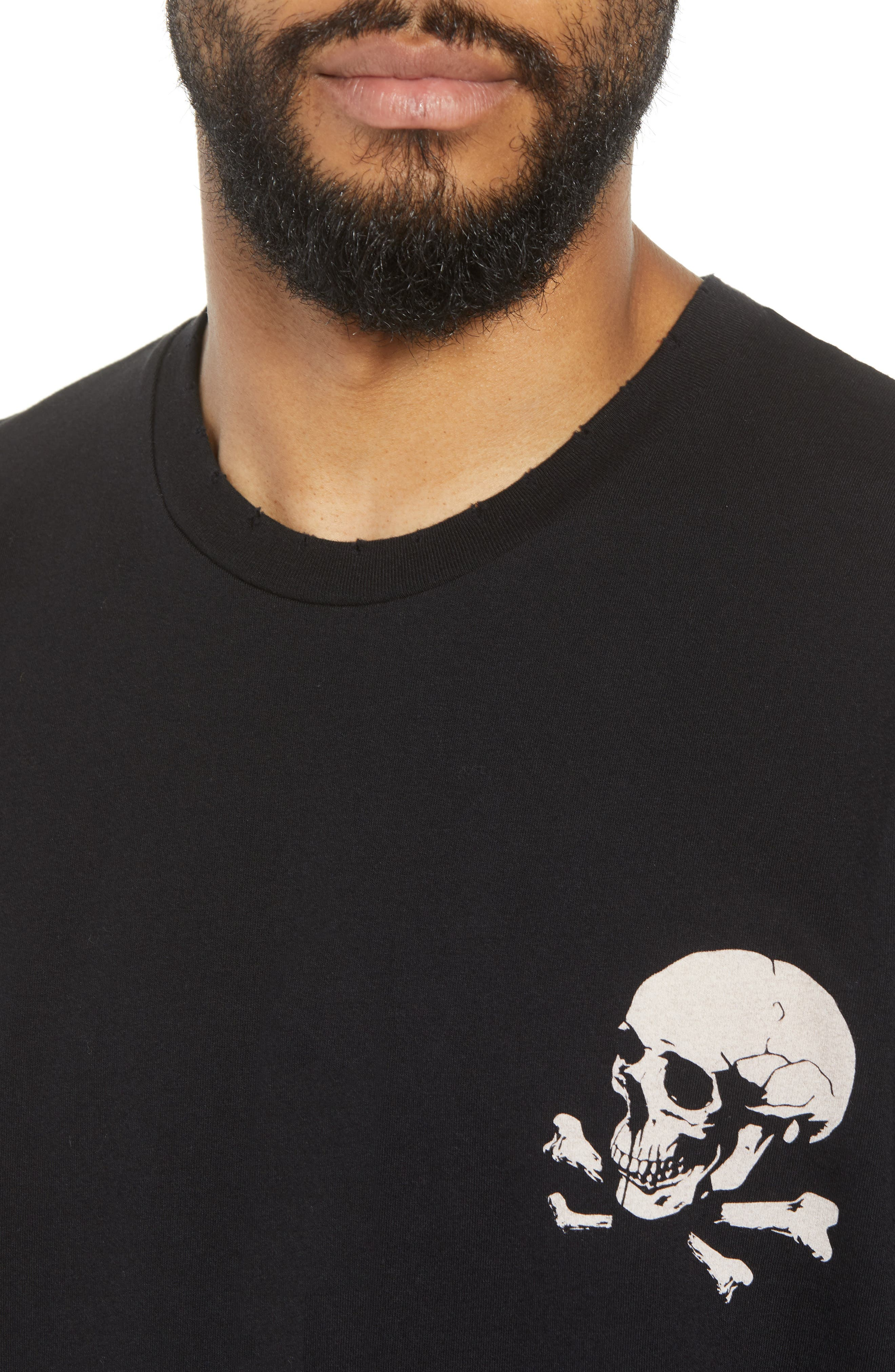Regular Fit Skullhead Graphic T-Shirt,                             Alternate thumbnail 4, color,                             001