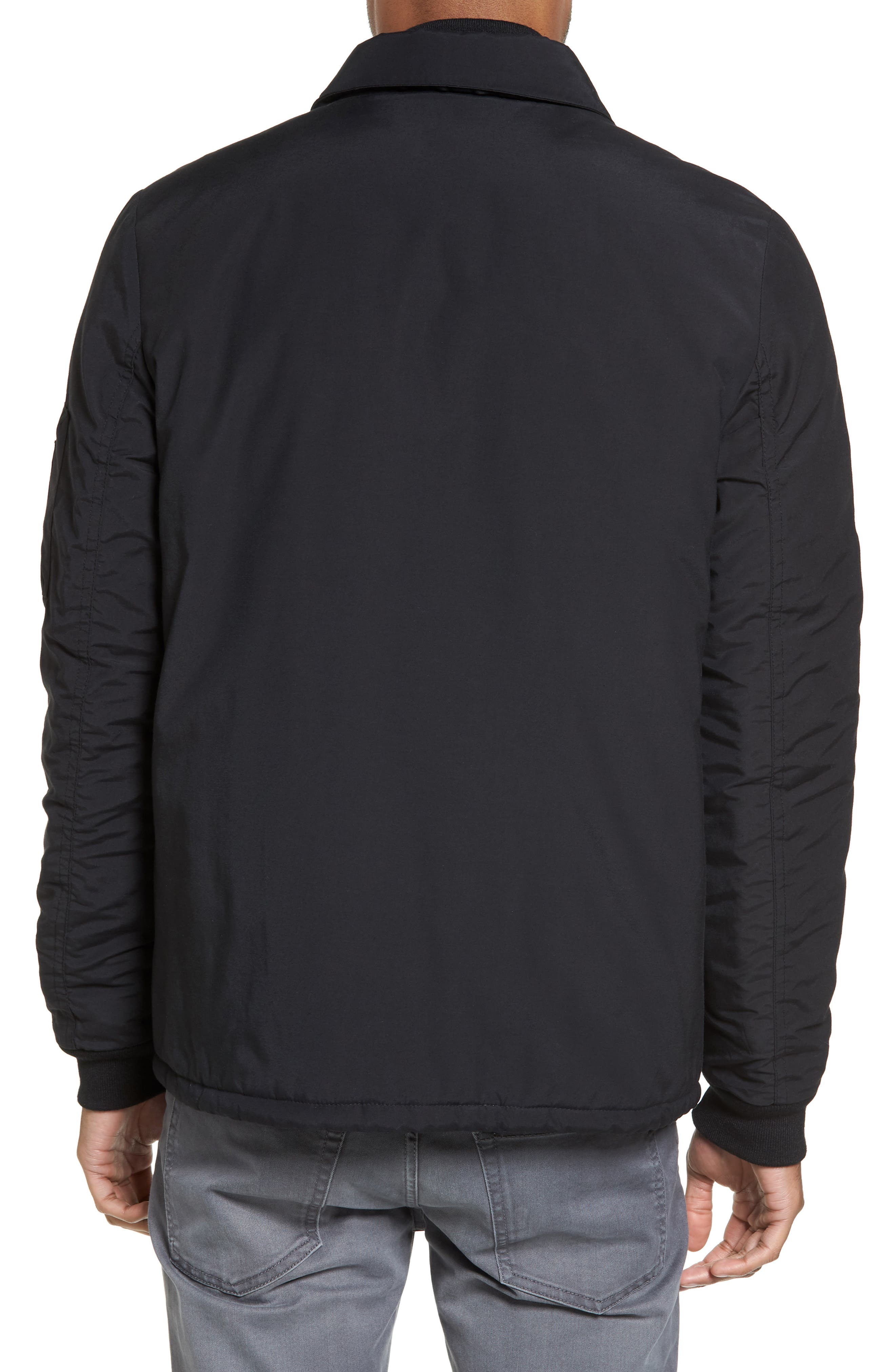 Collared Bomber Jacket,                             Alternate thumbnail 2, color,                             001