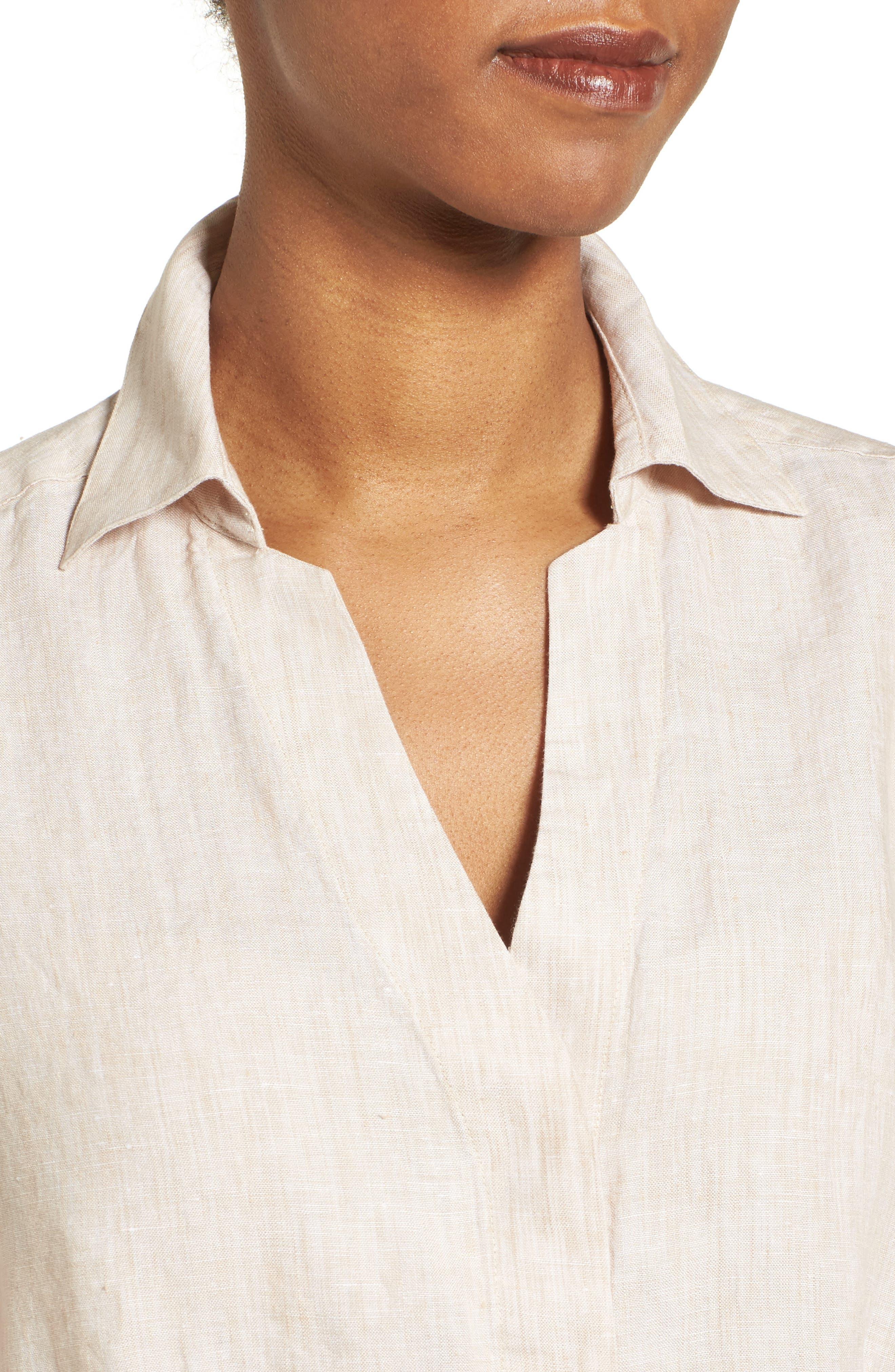 Linen Chambray Shirt,                             Alternate thumbnail 25, color,