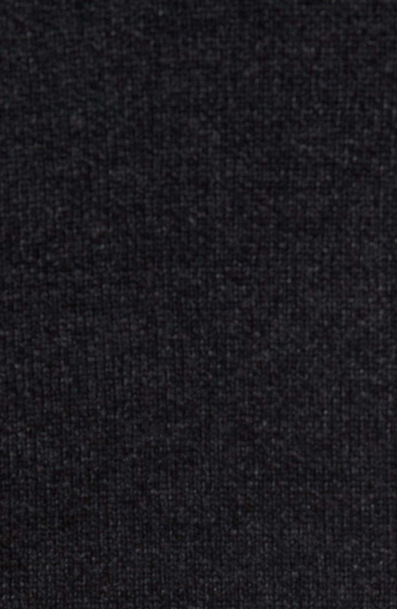 Caf Faux Fur Lined Sweater Jacket,                             Alternate thumbnail 5, color,                             BLACK