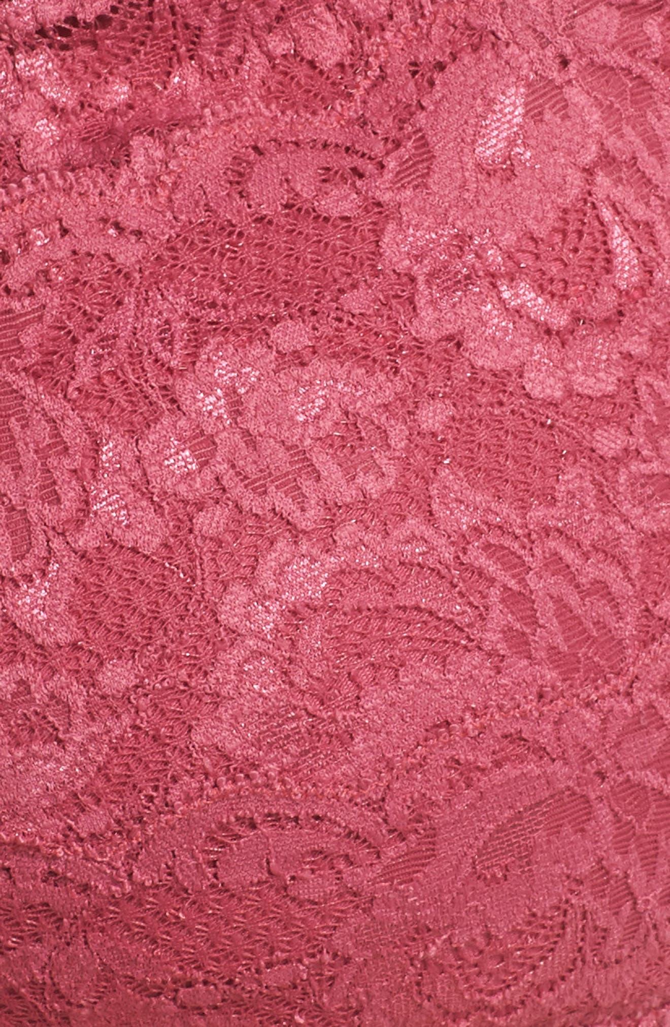 Never Say Never Plungie Lace Longline Bralette,                             Alternate thumbnail 27, color,