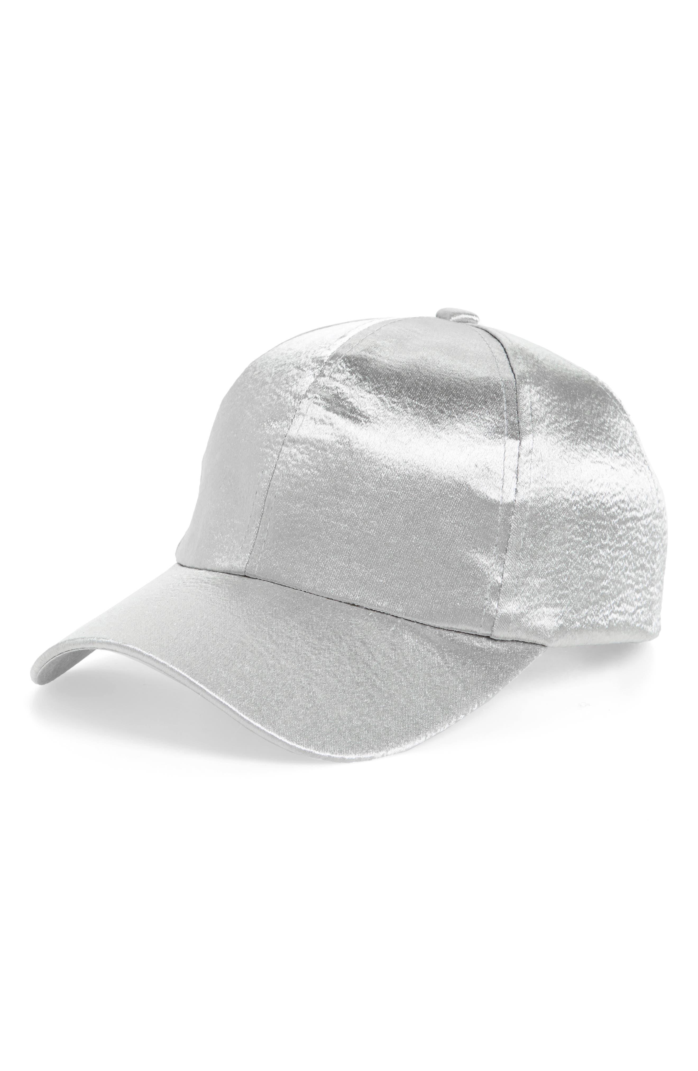 Satin Baseball Cap,                             Main thumbnail 1, color,                             040