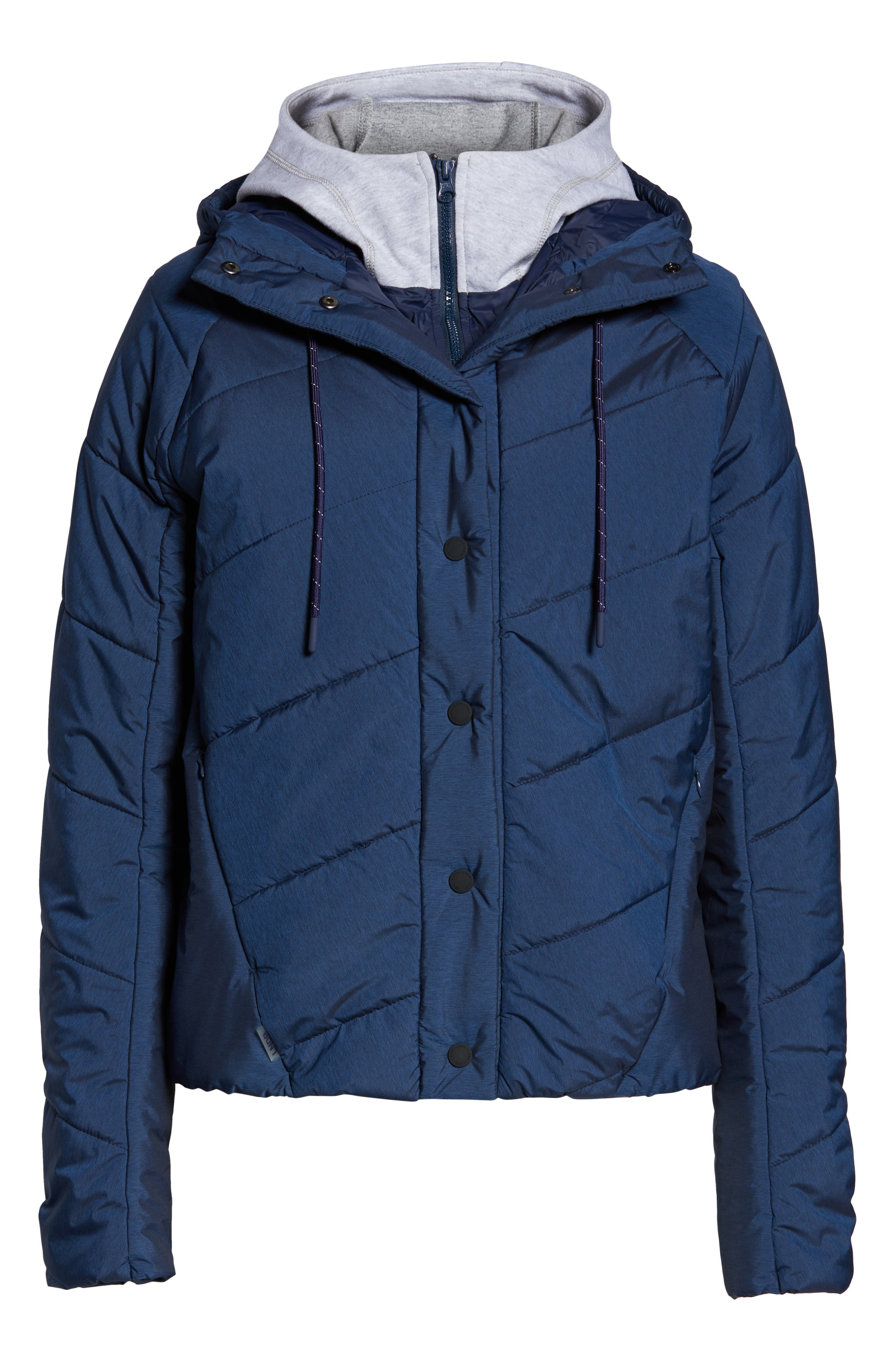 Toast Water Repellent Hooded Jacket,                             Alternate thumbnail 6, color,                             NAVY MARL