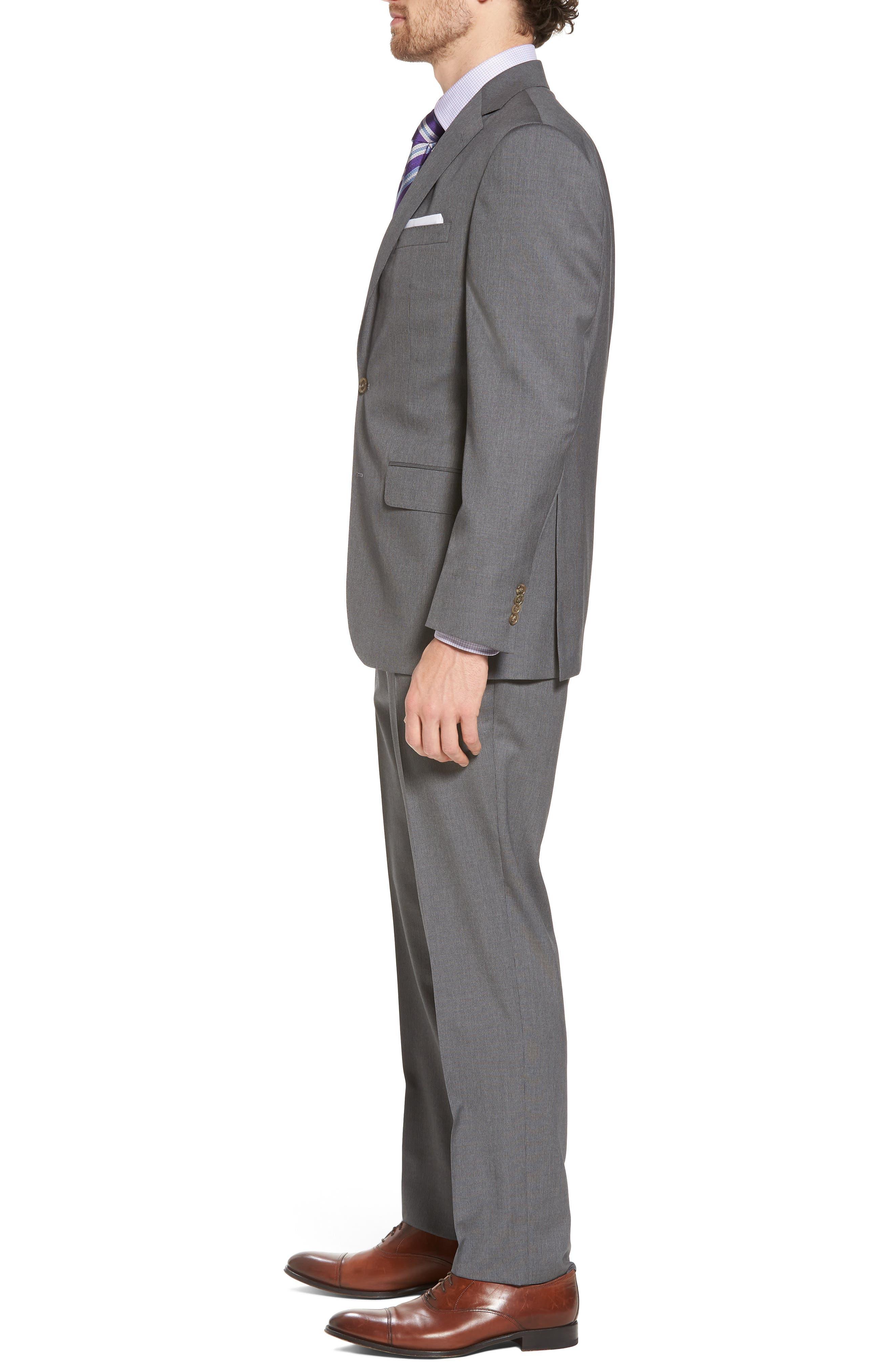 Ryan Classic Fit Stripe Wool Suit,                             Alternate thumbnail 3, color,                             030