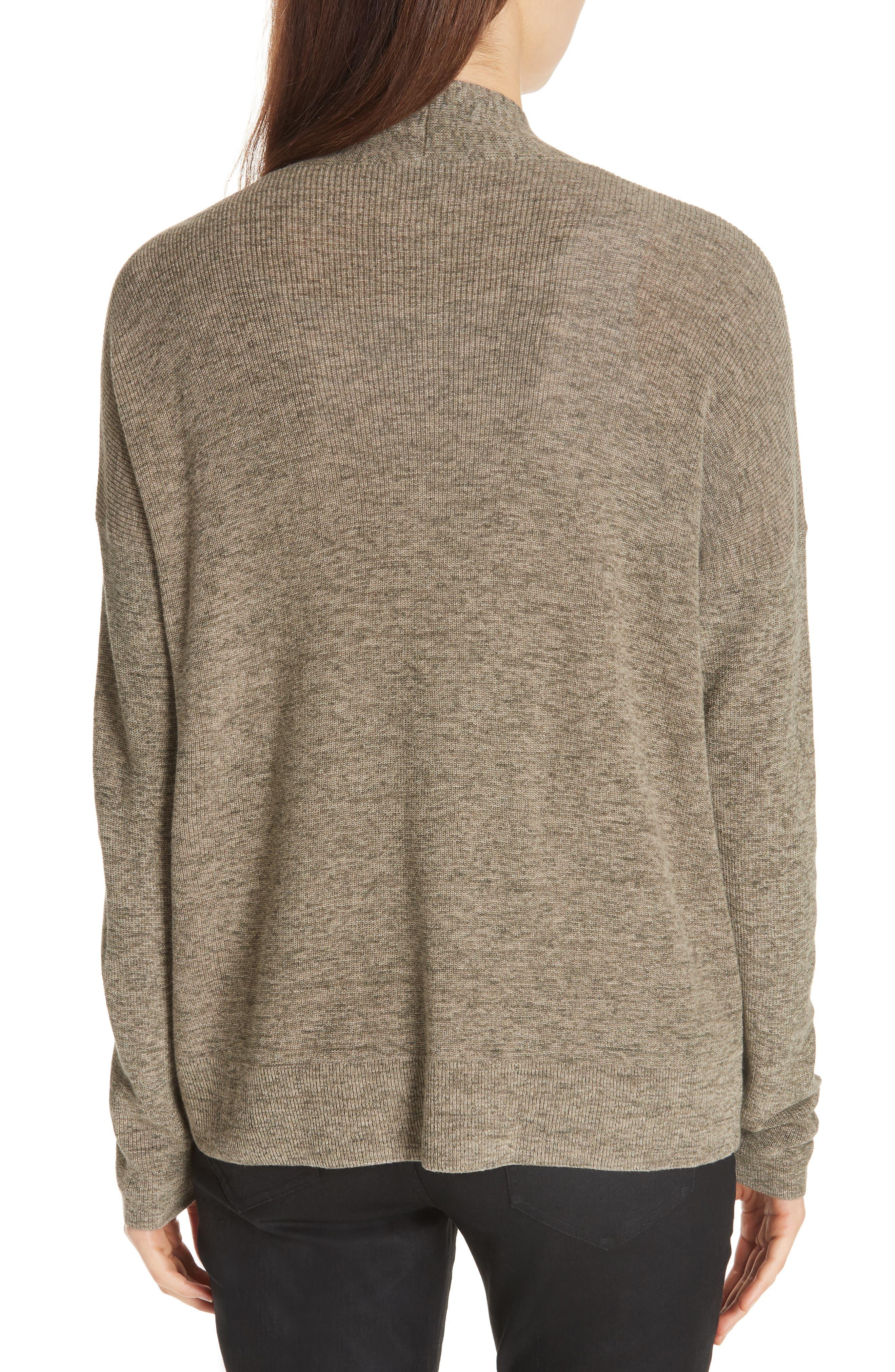 Simple Organic Cotton Cardigan,                             Alternate thumbnail 2, color,