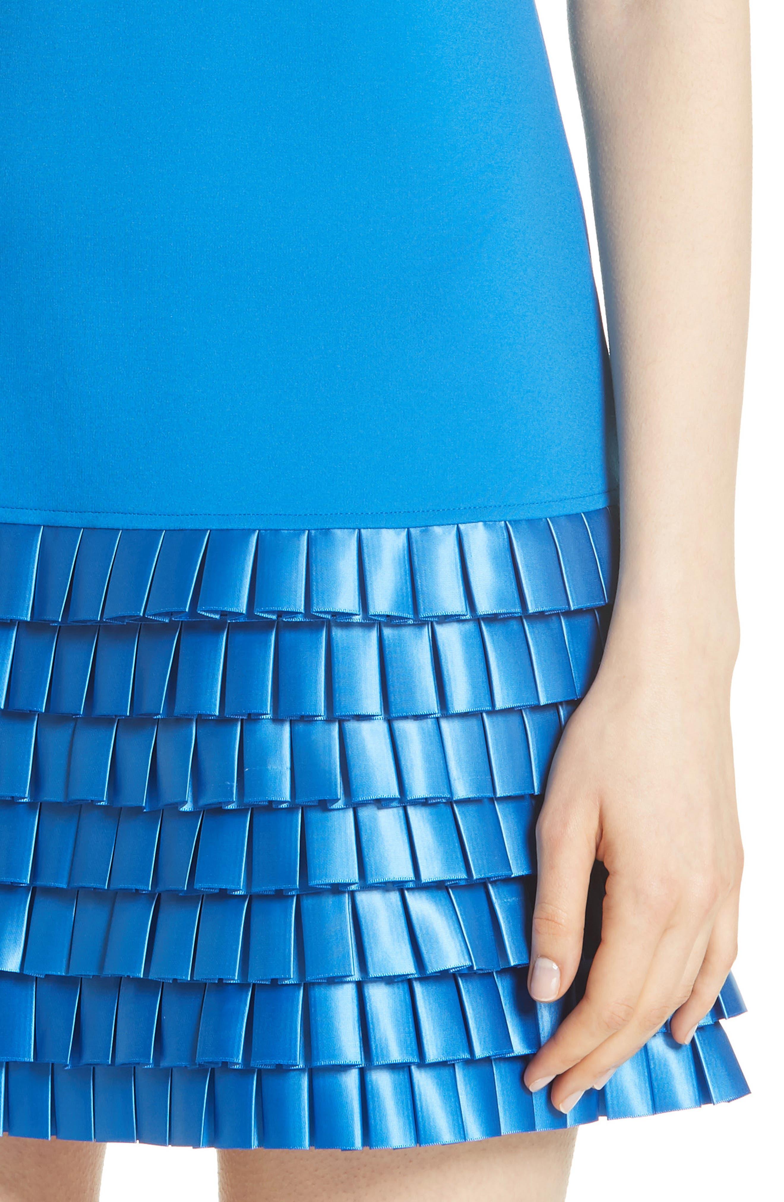Marggia Satin Loop Detail Shift Dress,                             Alternate thumbnail 4, color,                             430