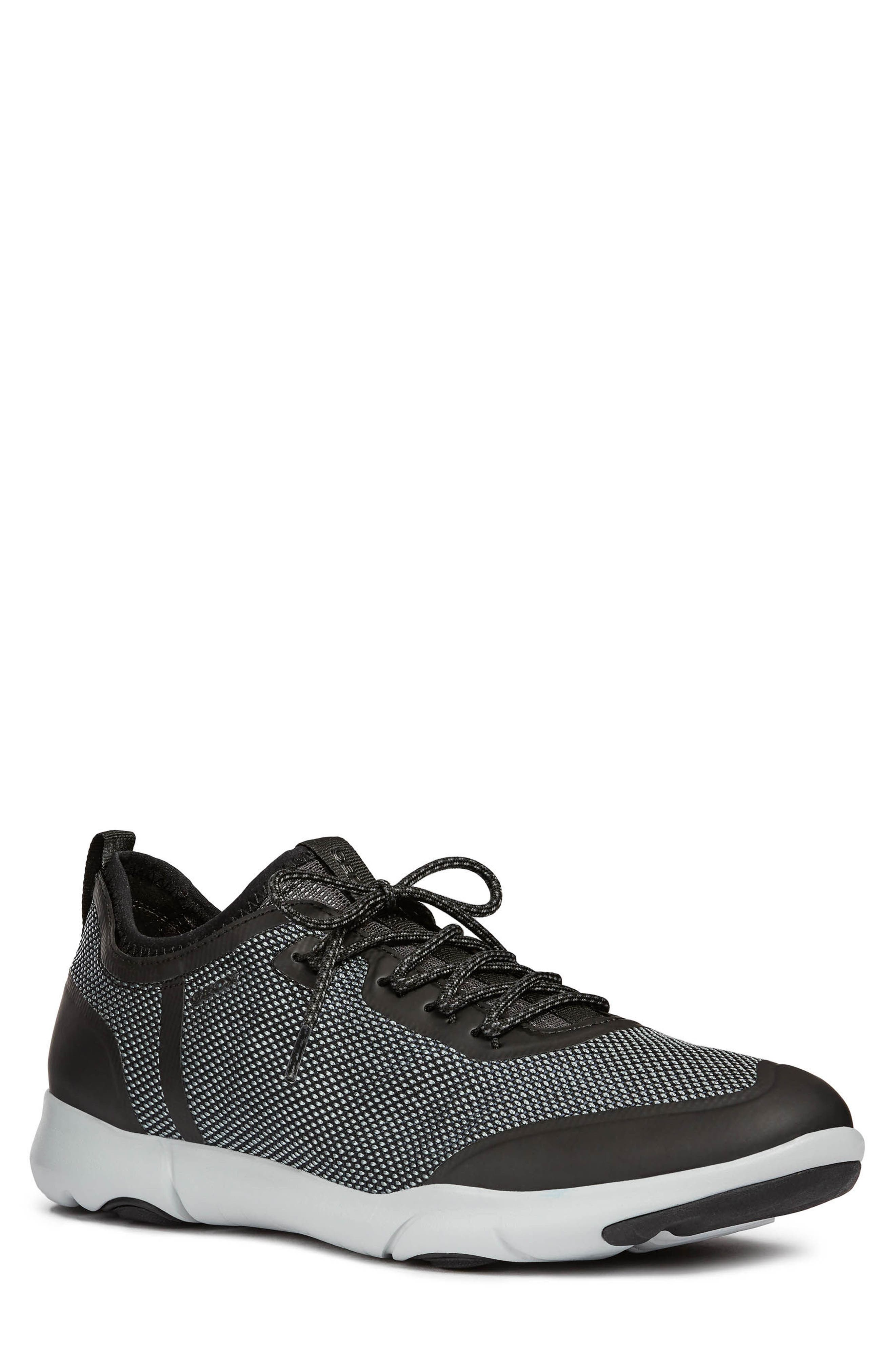 Nebula X 3 Low Top Sneaker,                         Main,                         color, BLACK LEATHER