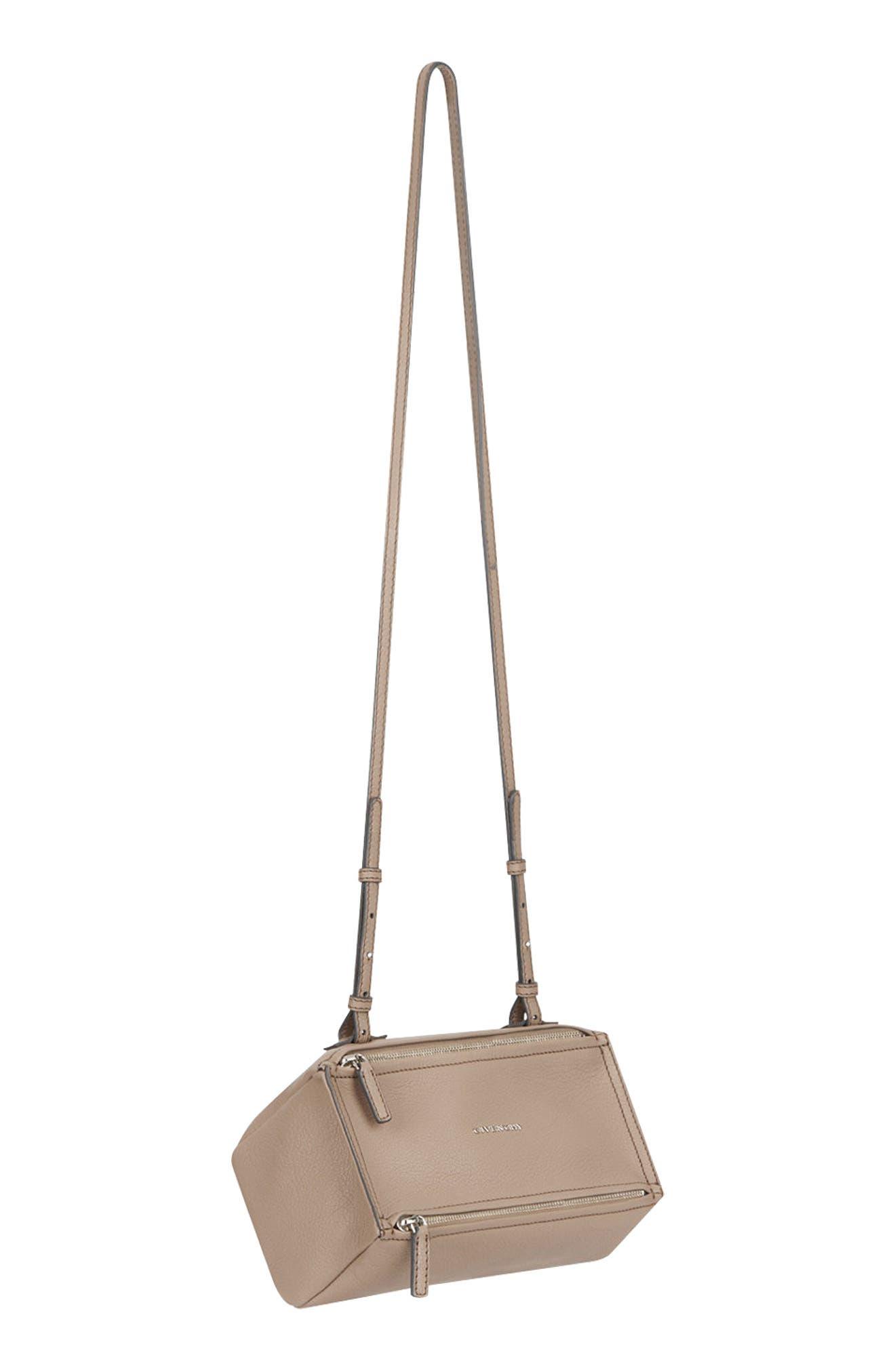'Mini Pandora' Sugar Leather Shoulder Bag,                             Alternate thumbnail 5, color,                             POWDER