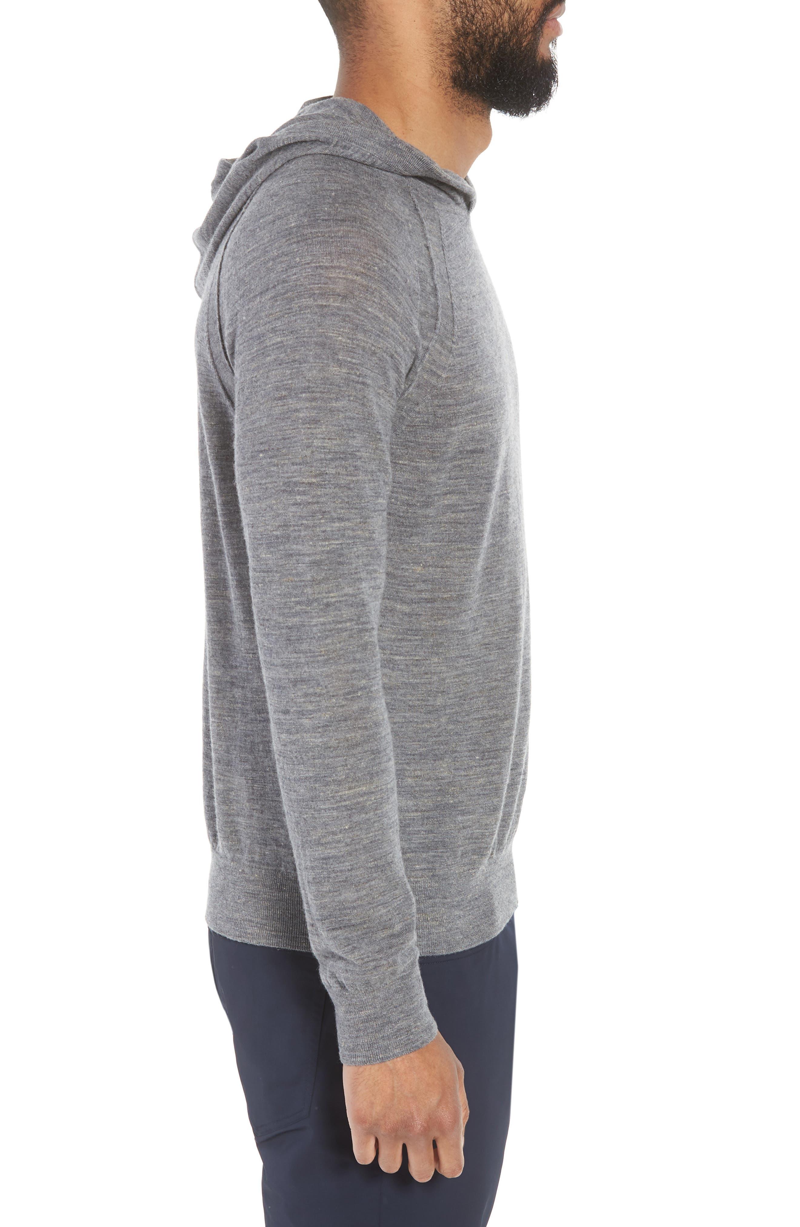 Long Sleeve Pullover Hoodie,                             Alternate thumbnail 3, color,                             070