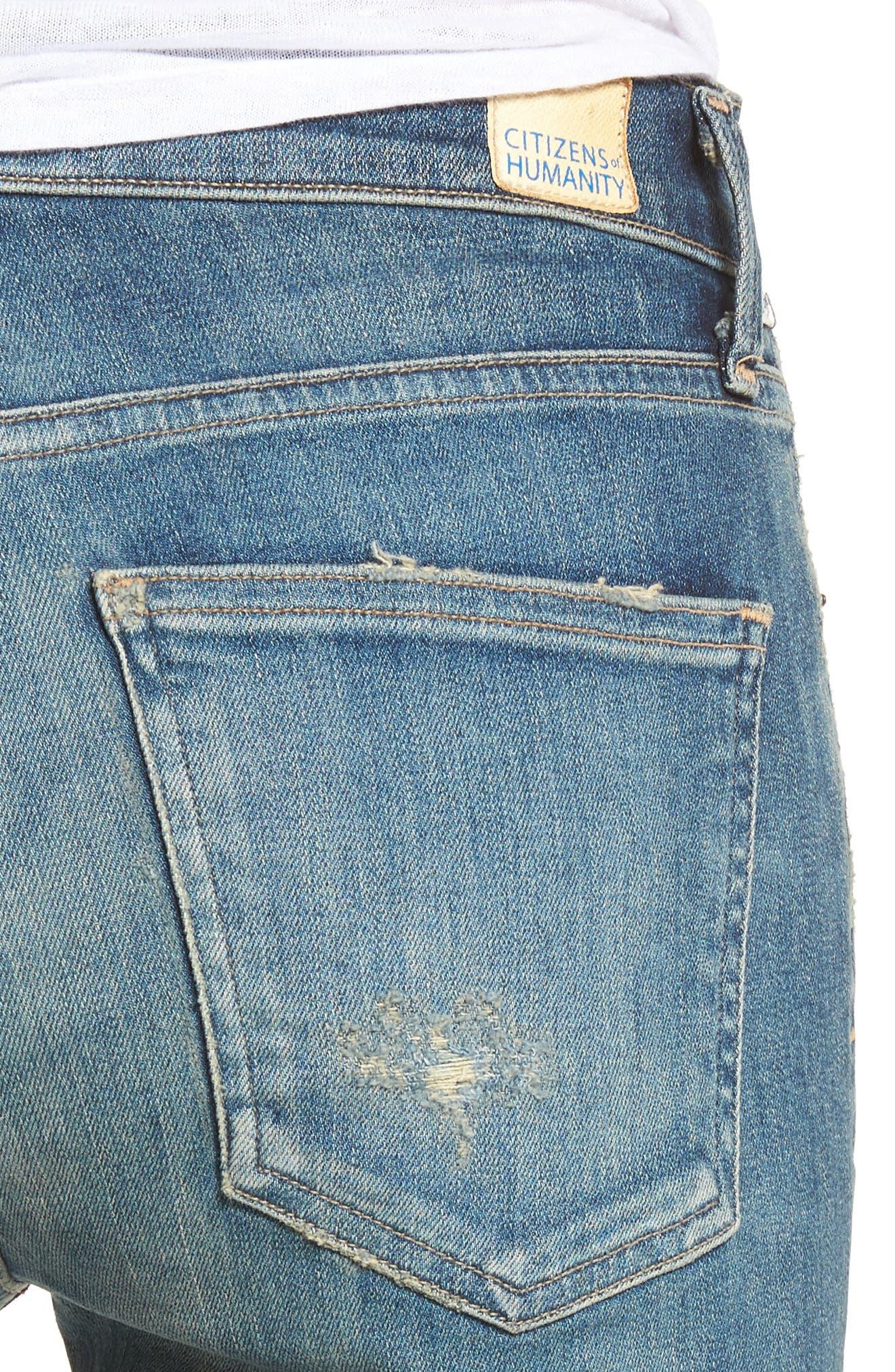 Rocket High Waist Skinny Jeans,                             Alternate thumbnail 4, color,                             465