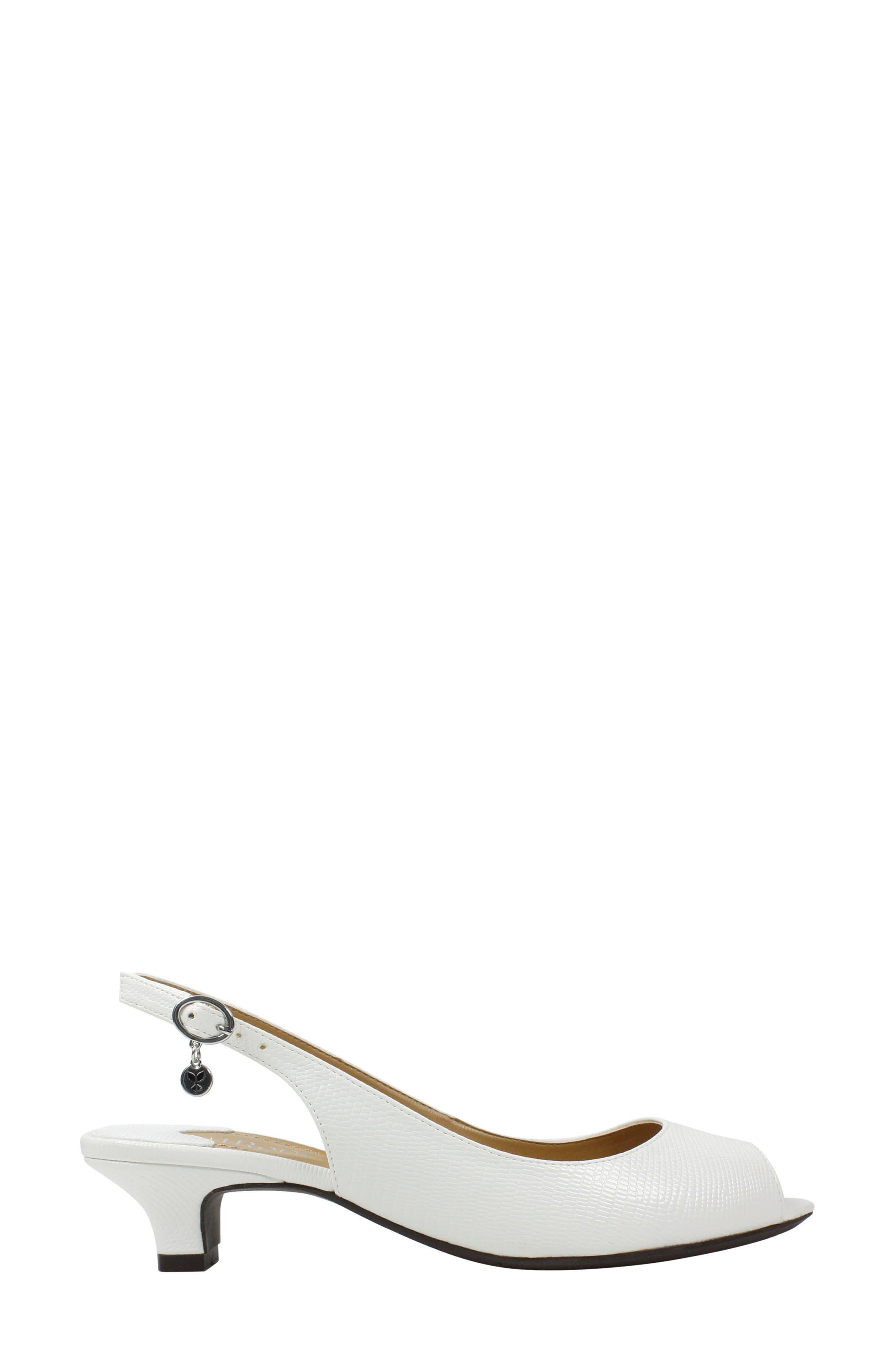 Jenvey Slingback Sandal,                             Alternate thumbnail 3, color,                             WHITE LIZARD PRINT