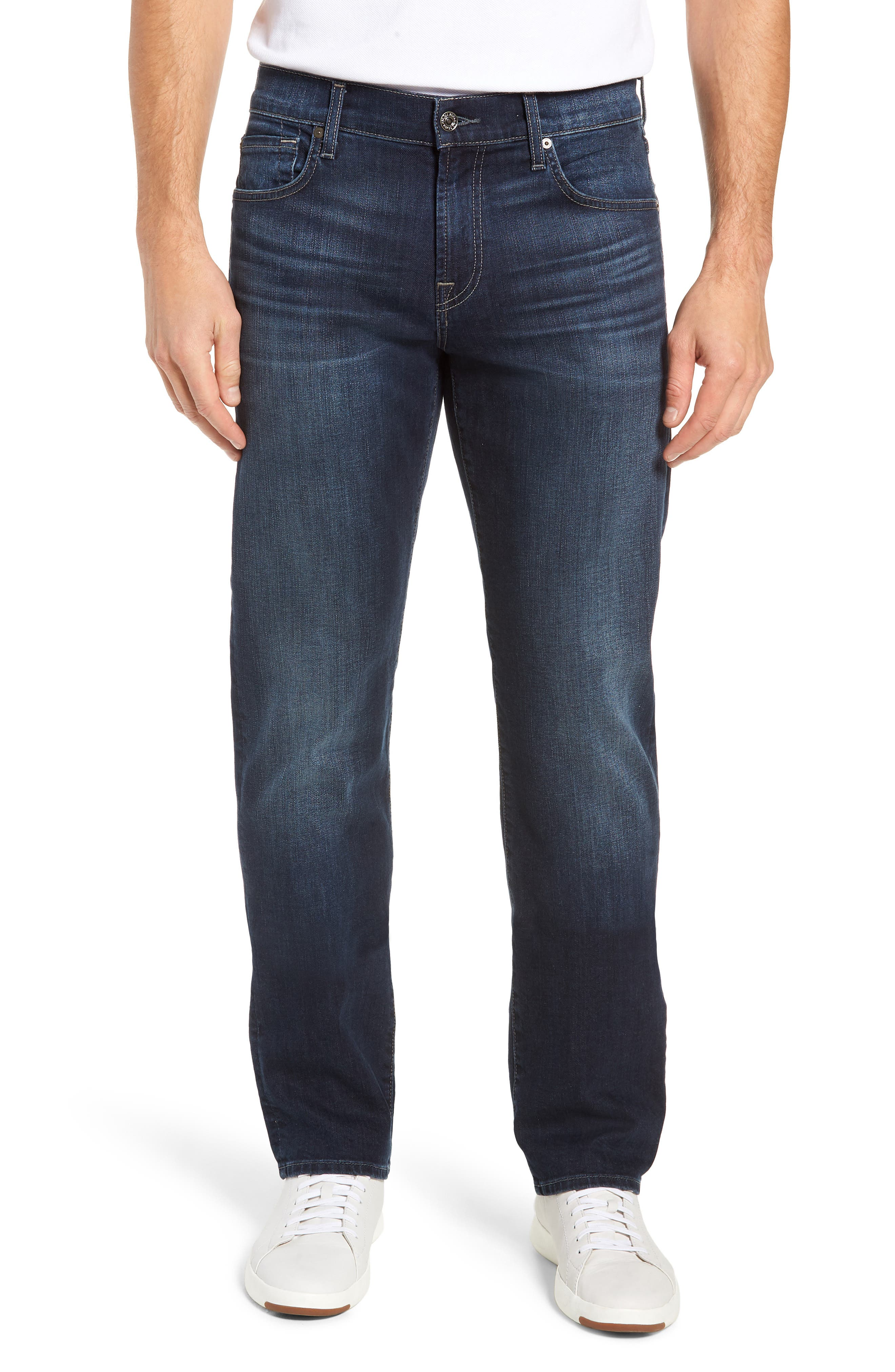 Standard Fit Straight Leg Jeans,                         Main,                         color, JUSTICE