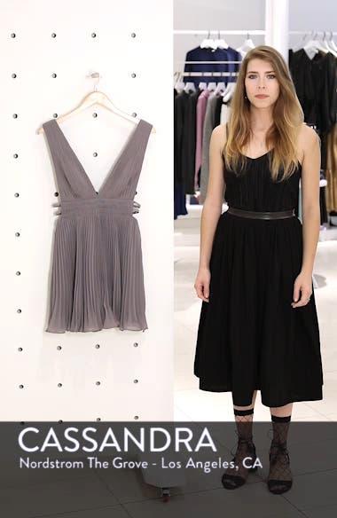 Fame & Partners The Briella Fit & Flare Pleat Dress, sales video thumbnail