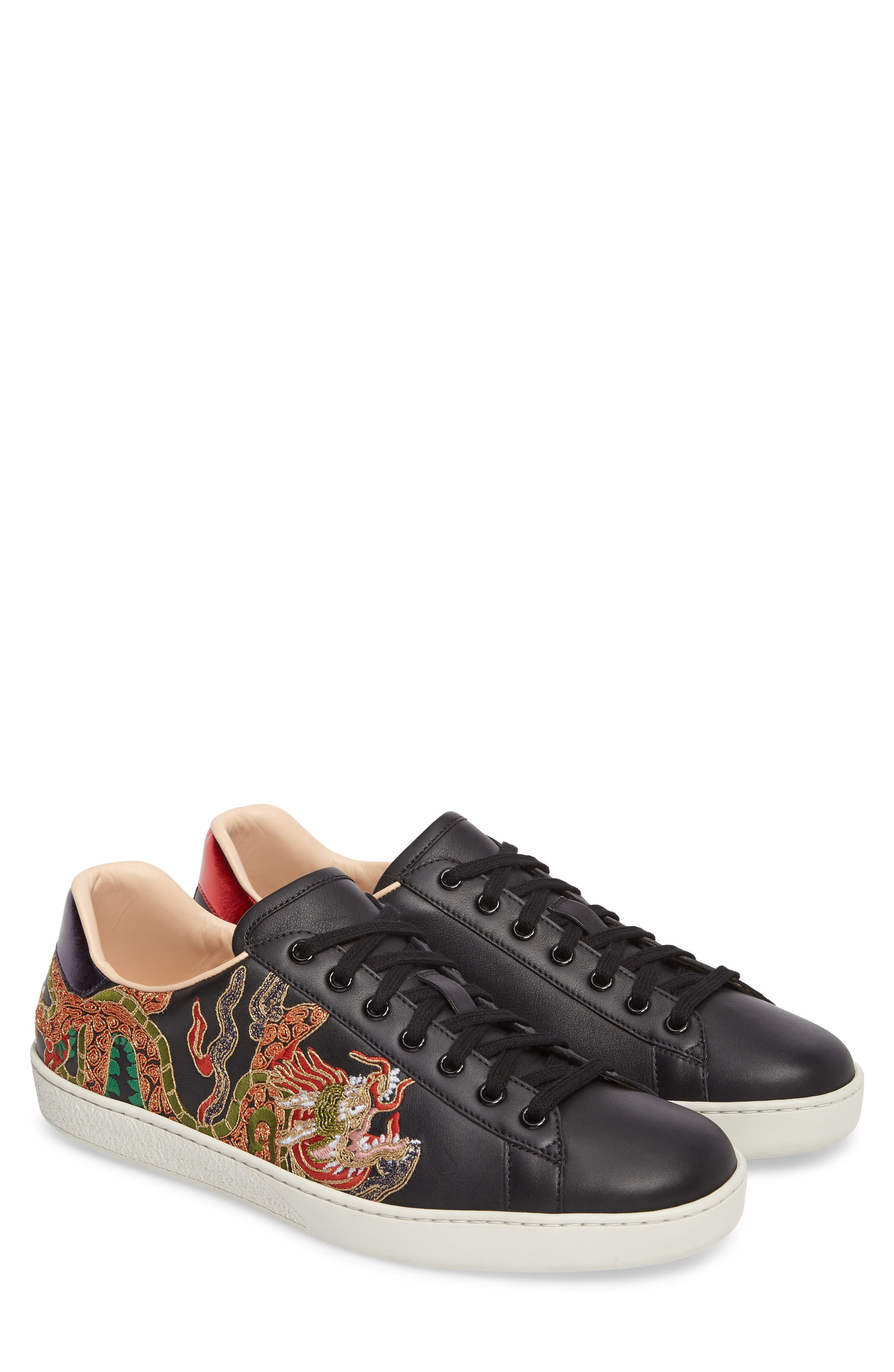 New Ace Embroidered Sneaker,                             Main thumbnail 1, color,                             009