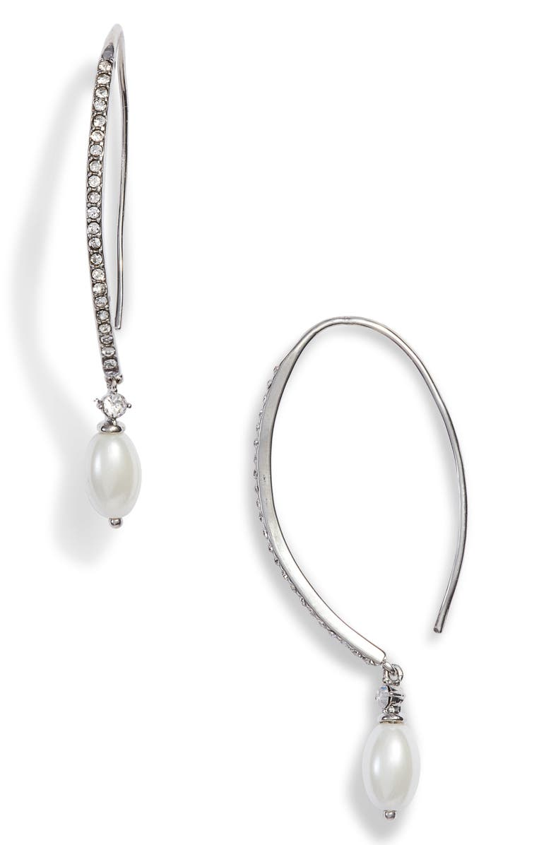 Jenny Packham IMITATION PEARL THREADER EARRINGS