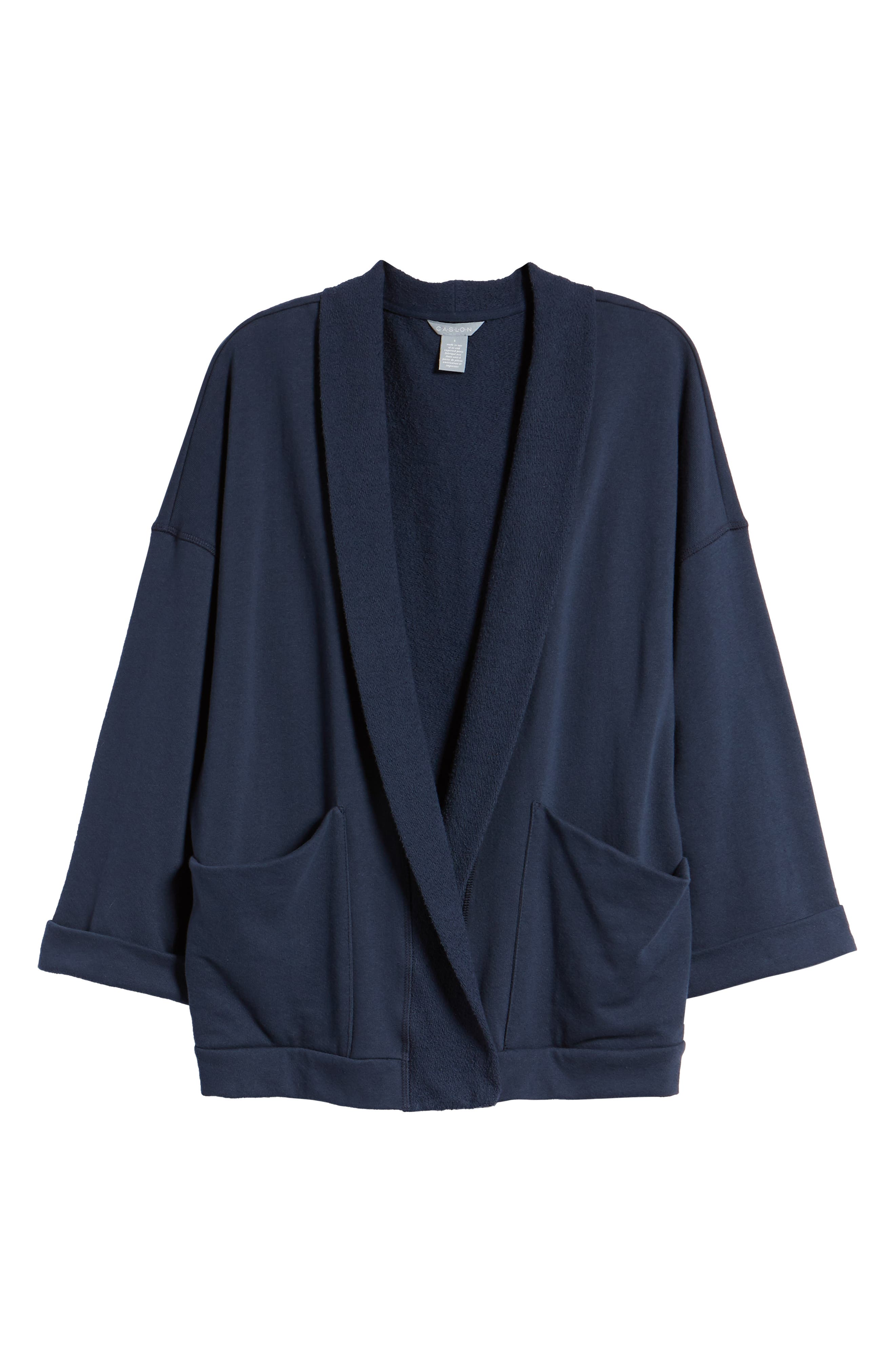 Off-Duty Roll Sleeve Cotton Blend Jacket,                             Alternate thumbnail 16, color,