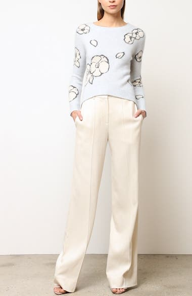Intarsia Brushed Cashmere & Silk Sweater, video thumbnail