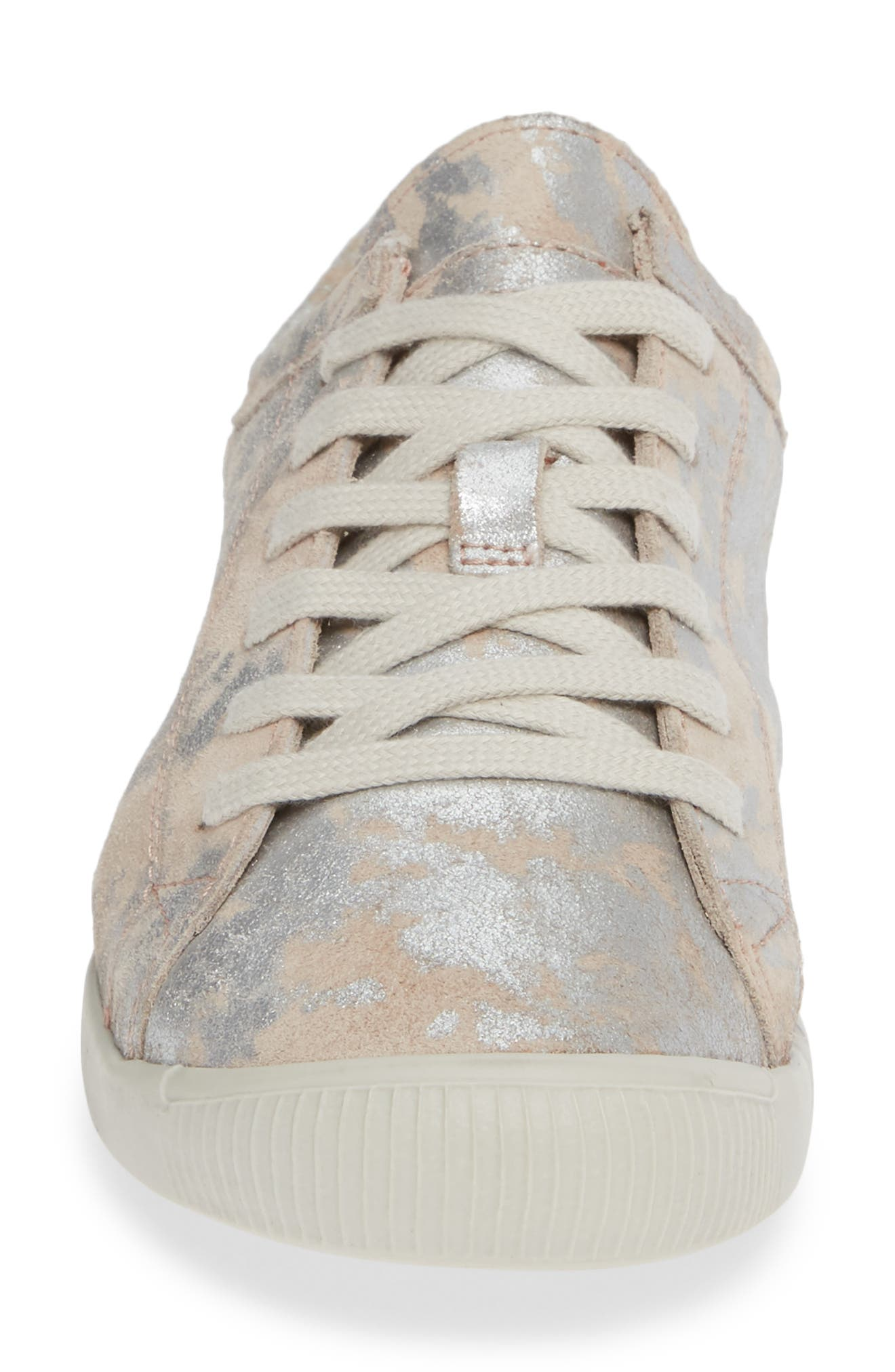 Isla Distressed Sneaker,                             Alternate thumbnail 4, color,                             ROSE LEATHER