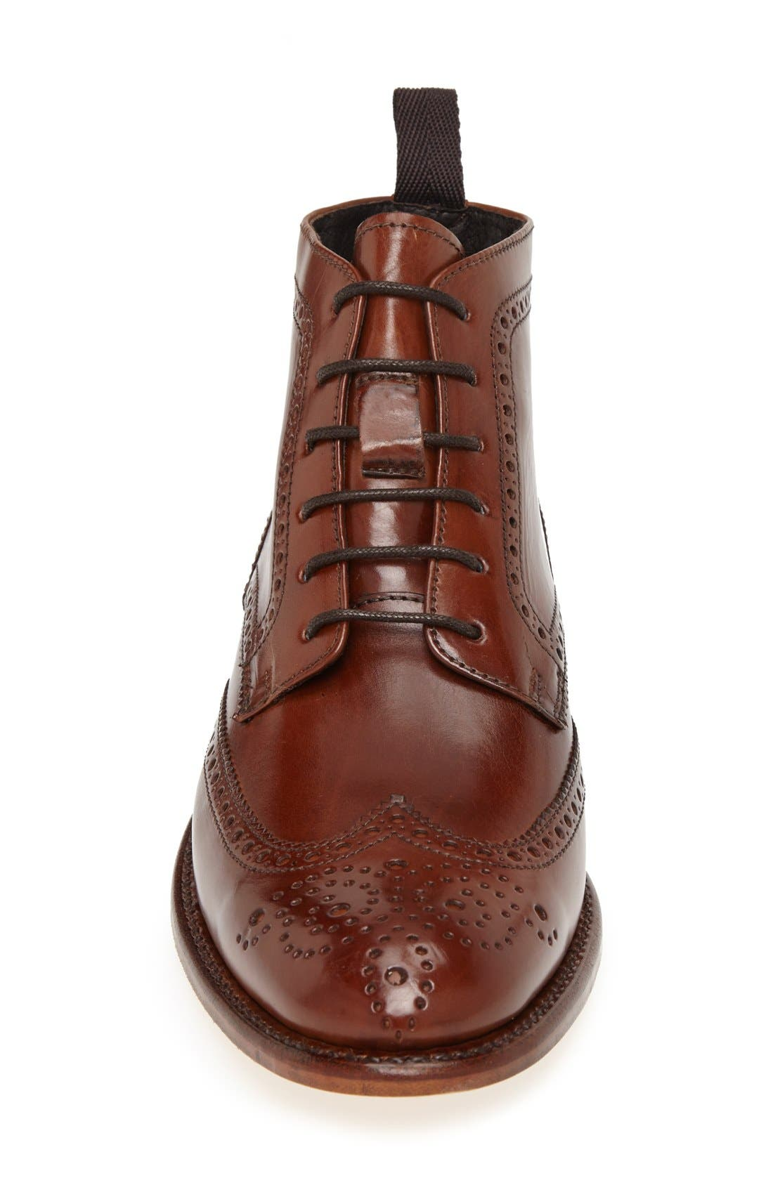 'Newport' Wingtip Boot,                             Alternate thumbnail 3, color,                             COGNAC