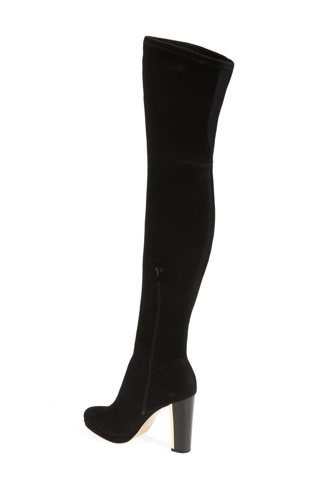 'Polomia' Platform Over the Knee Boot,                             Alternate thumbnail 2, color,                             001