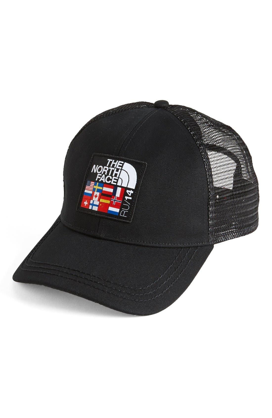 'International Mountain - Global' Trucker Hat, Main, color, 001