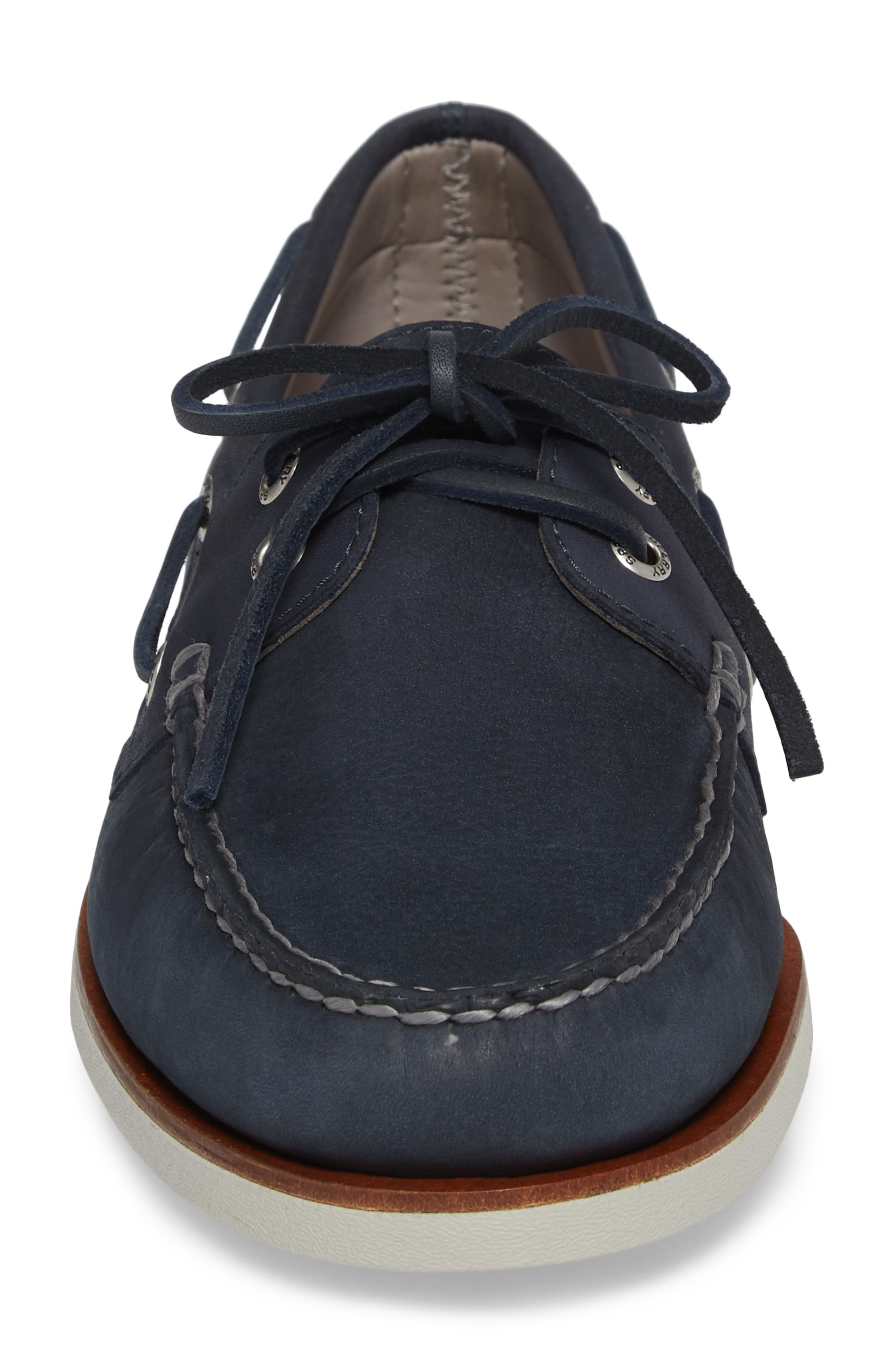 'Gold Cup - Authentic Original' Boat Shoe,                             Alternate thumbnail 4, color,                             BLUE/ NAVY LEATHER