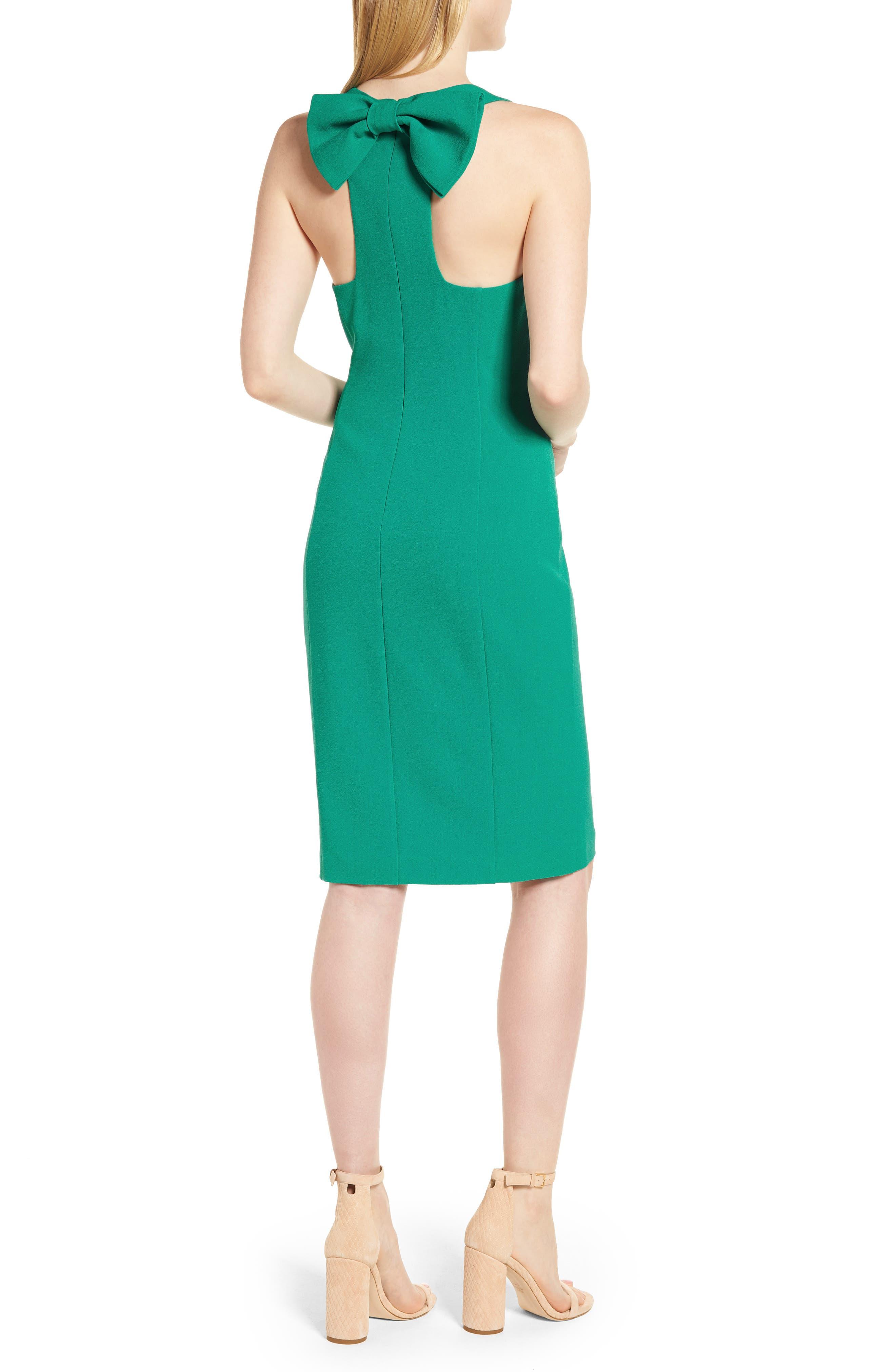 Bow Back Sheath Dress,                             Alternate thumbnail 6, color,