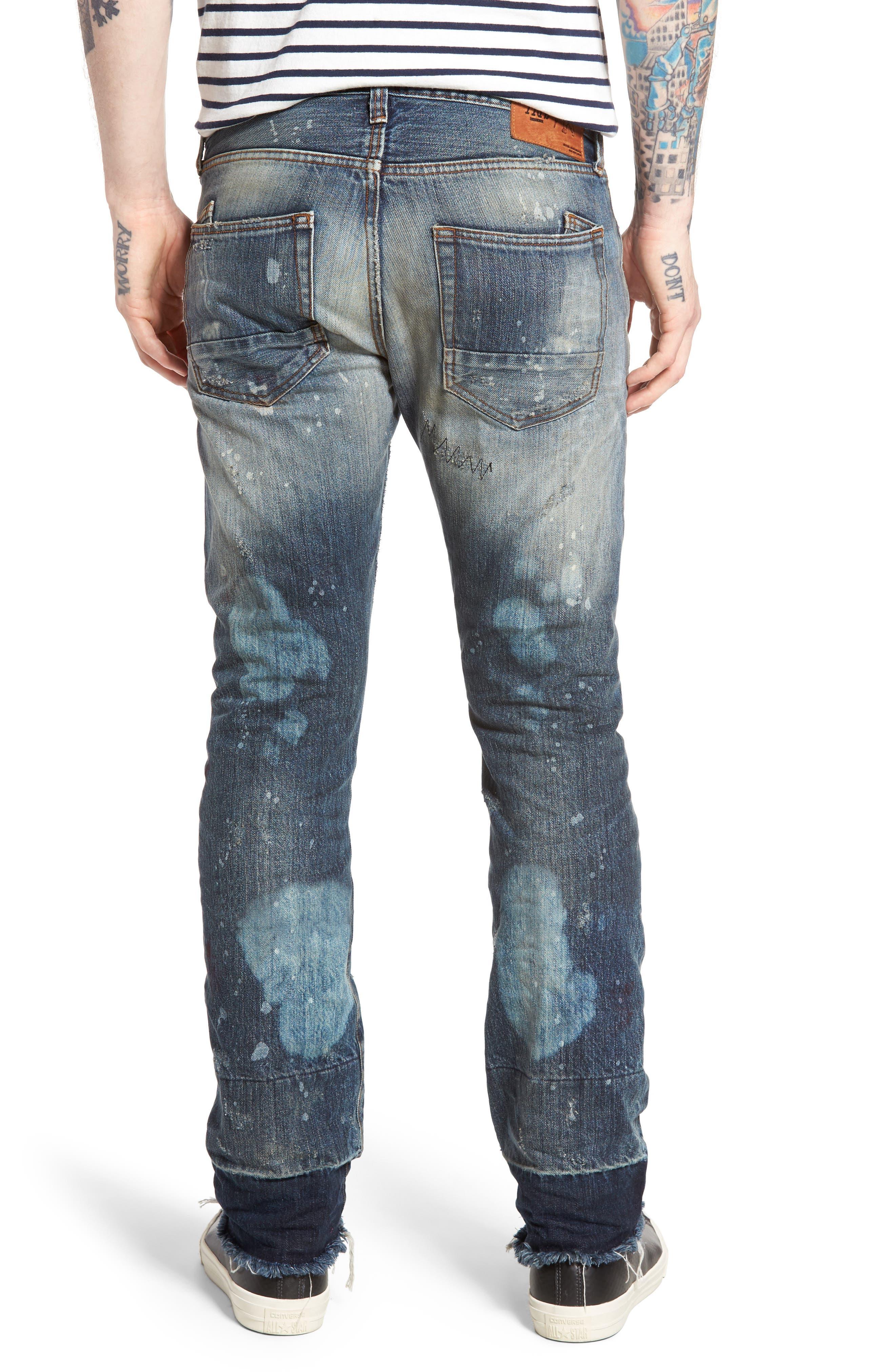 Demon Slim Straight Leg Jeans,                             Alternate thumbnail 2, color,                             490