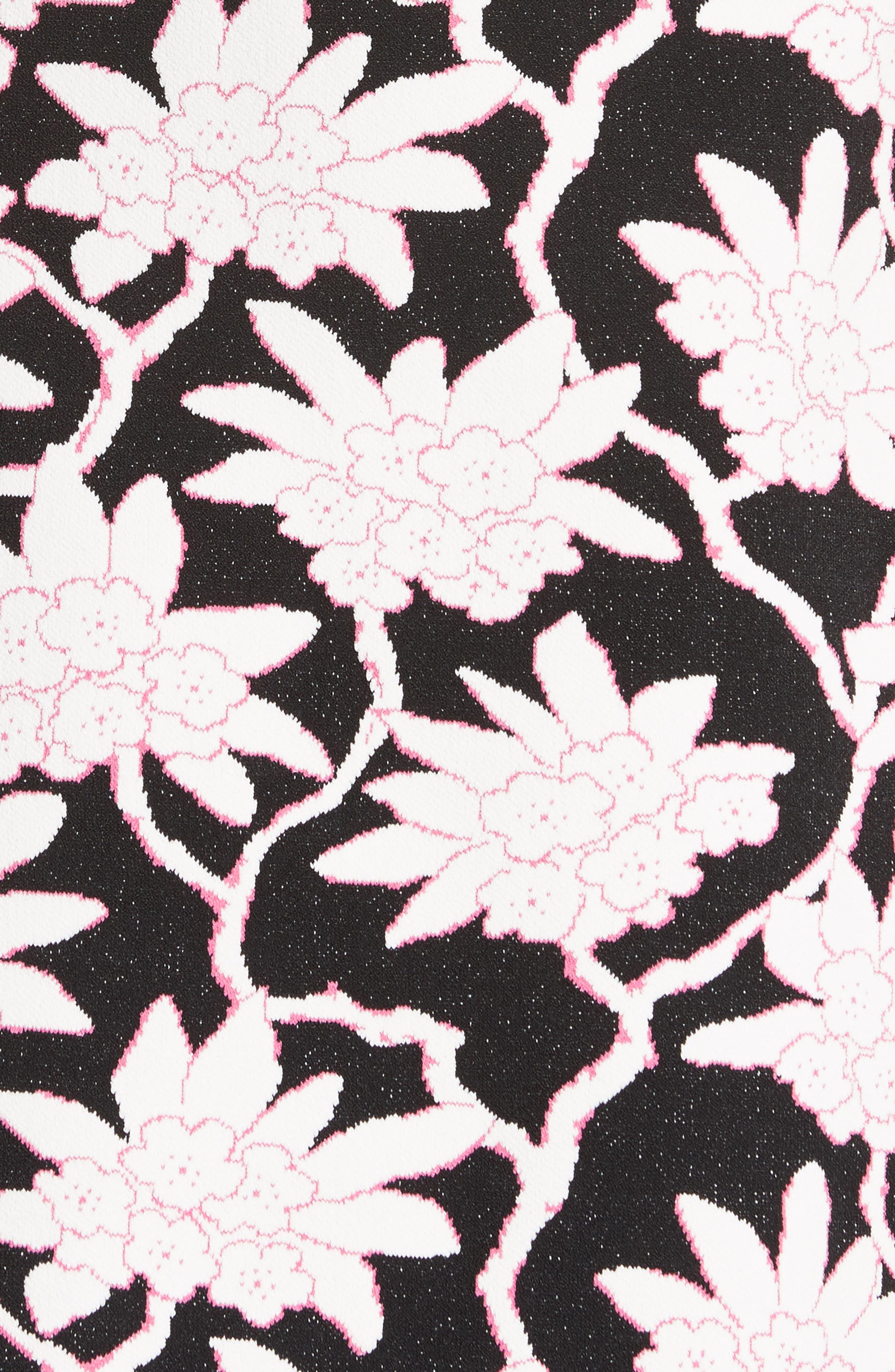 Rhododendron Jacquard Dress,                             Alternate thumbnail 5, color,                             001