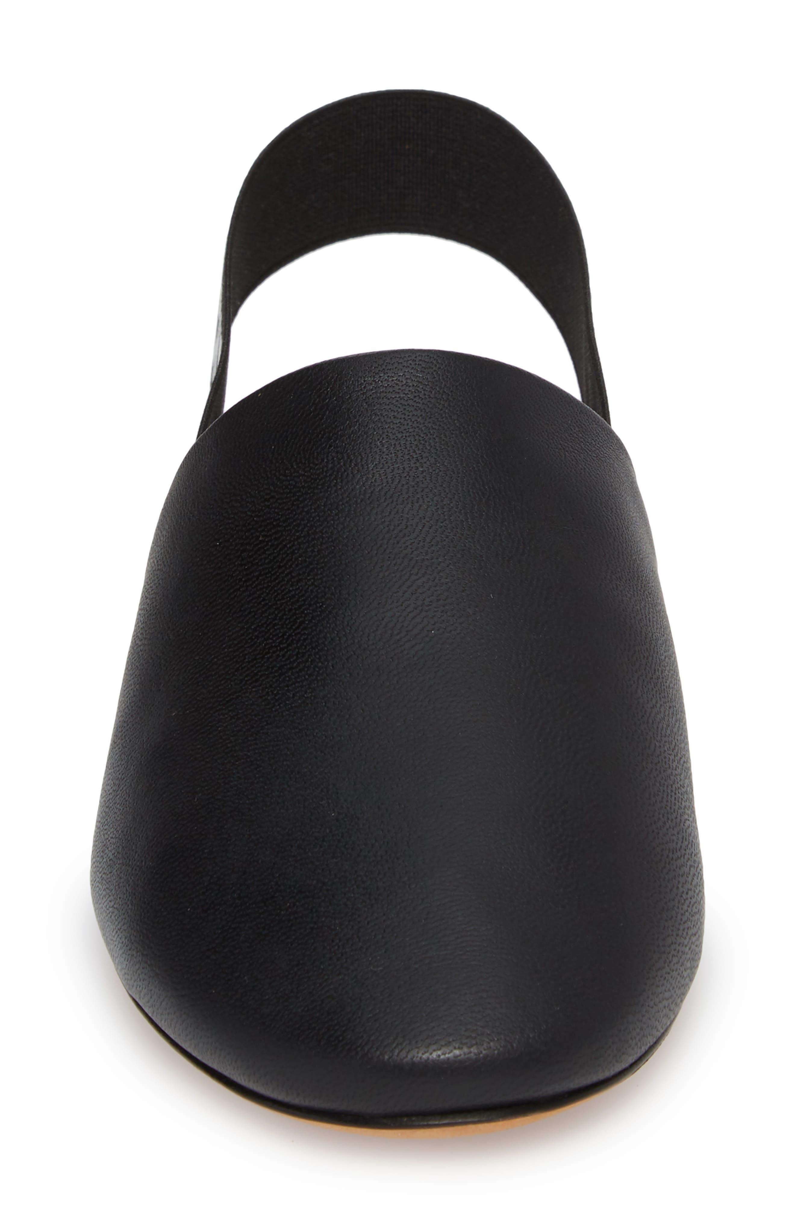 Rivington Logo Slingback Mule,                             Alternate thumbnail 4, color,                             BLACK