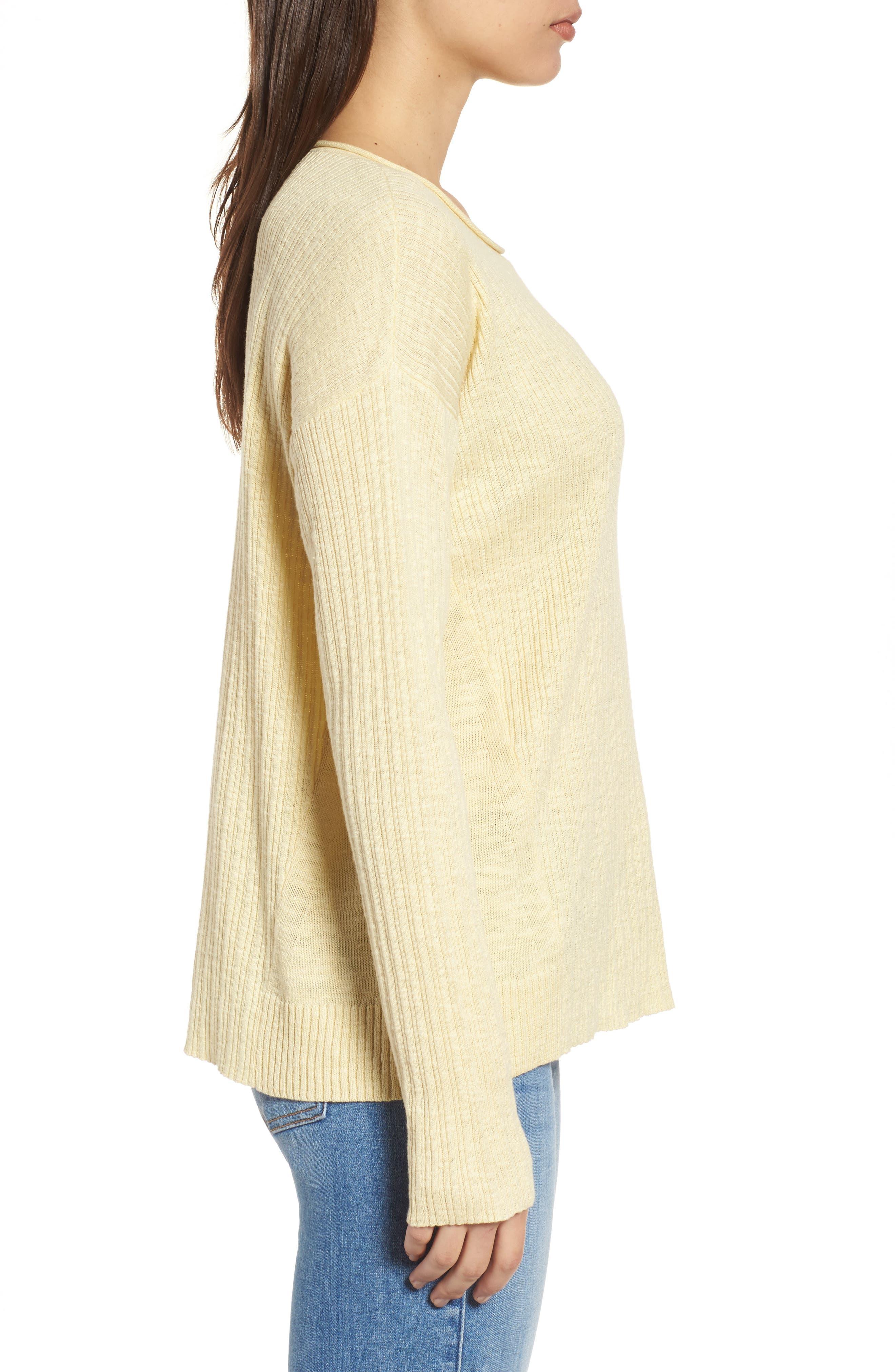 Organic Linen & Cotton Crewneck Sweater,                             Alternate thumbnail 12, color,